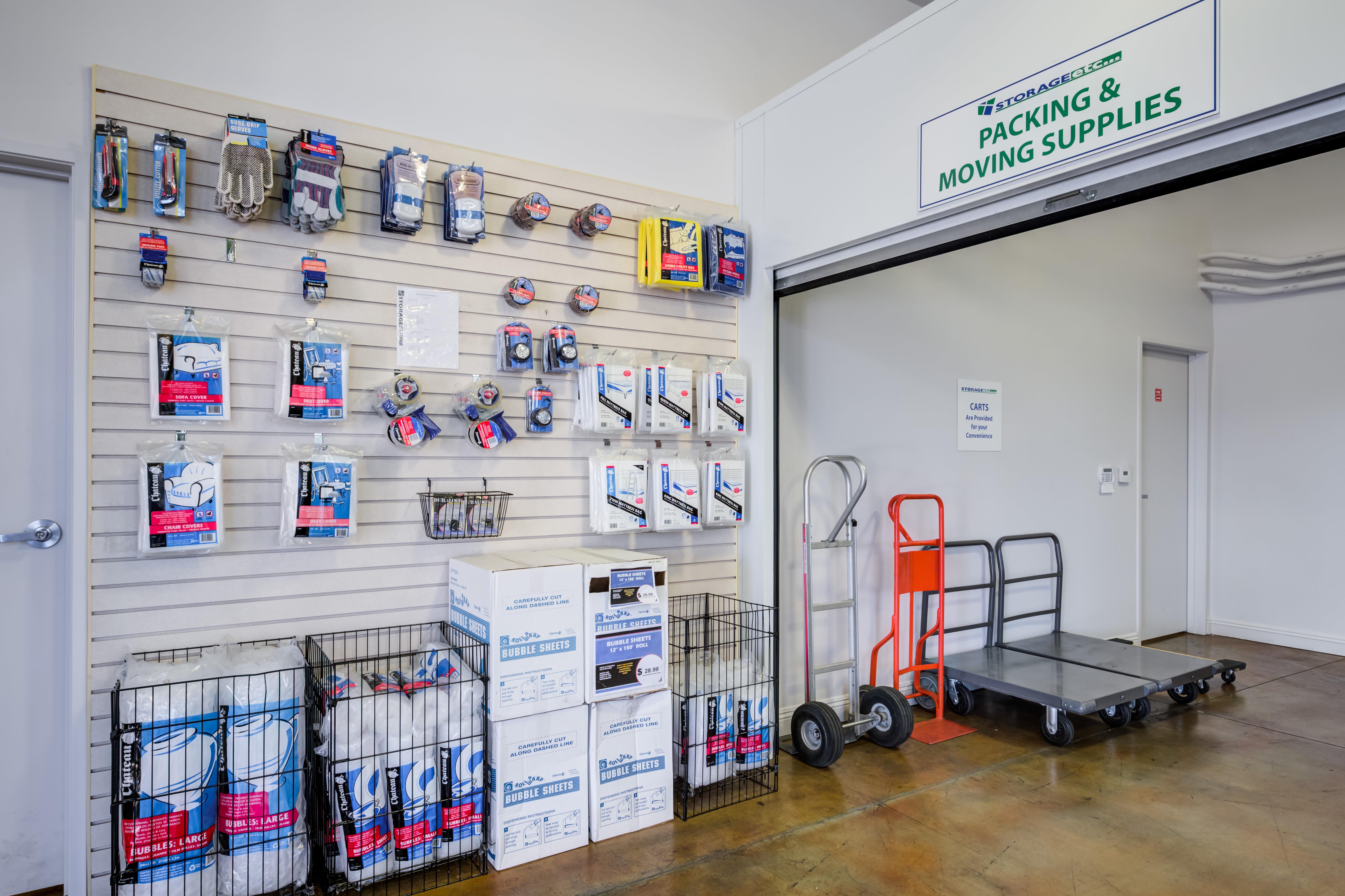 Self Storage packing supplies at Storage Etc... Chatsworth