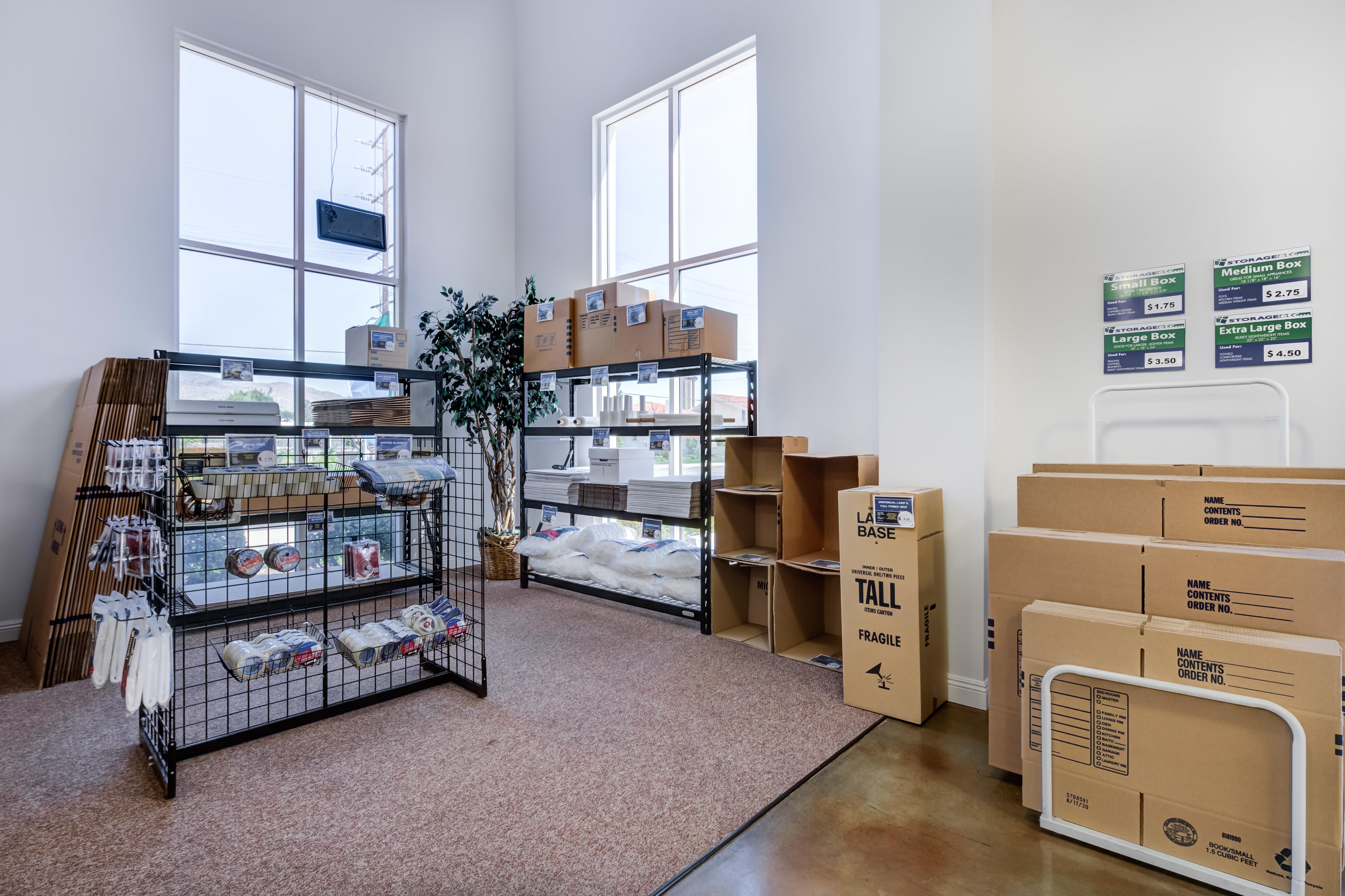 Self Storage storage supplies at Storage Etc... Chatsworth