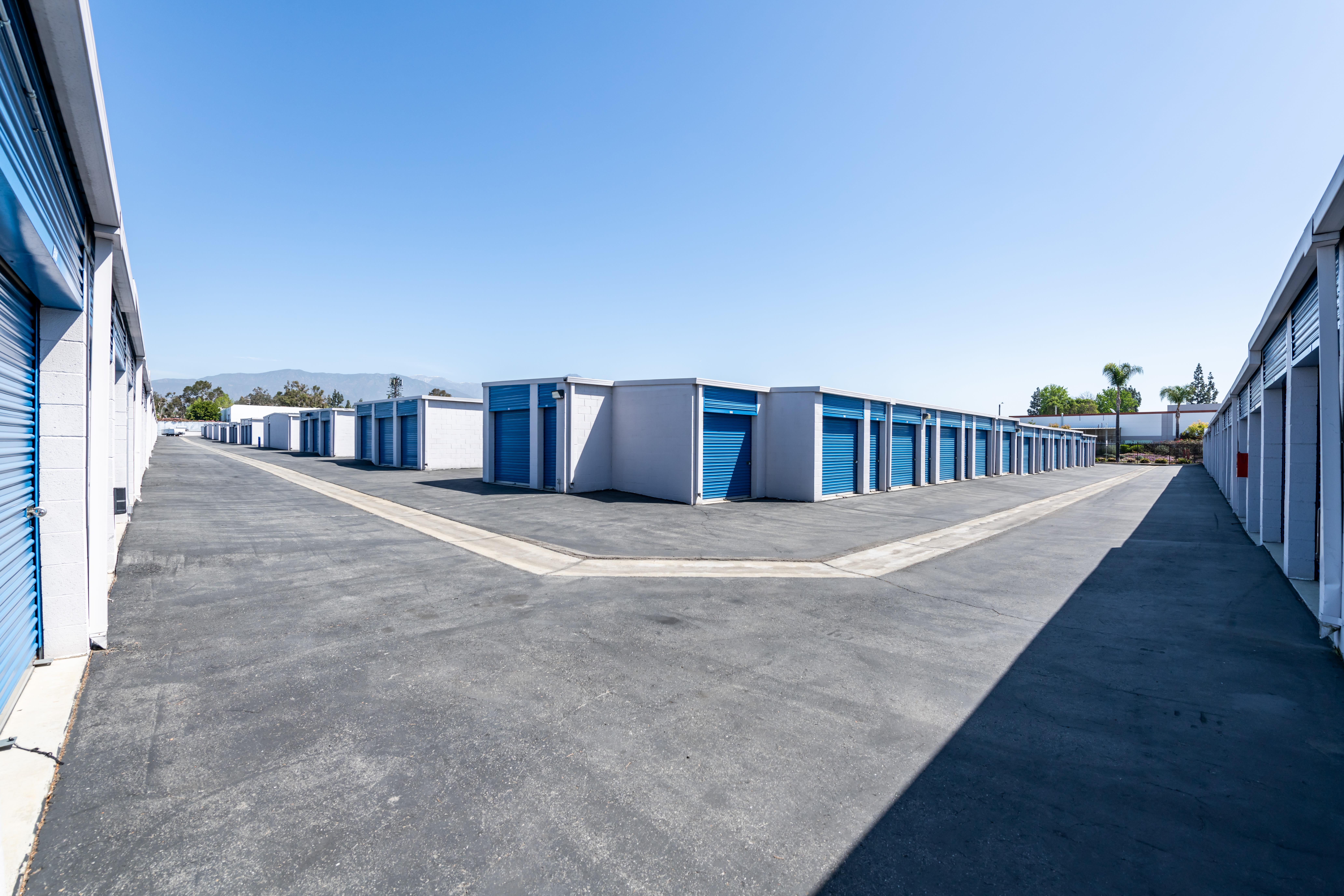 Corner of storage units at Storage Etc... Pomona