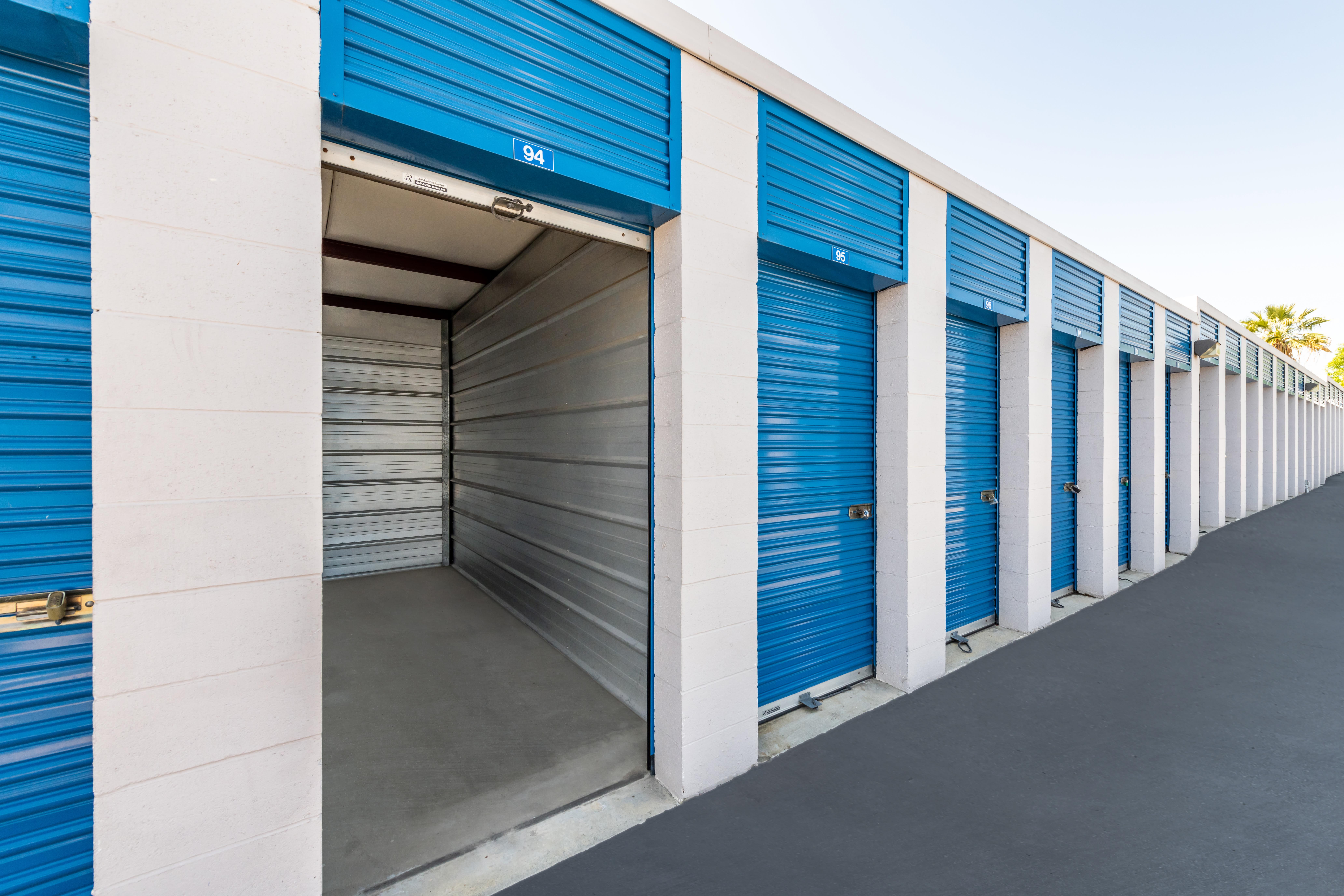 Open storage unit at Storage Etc... Pomona