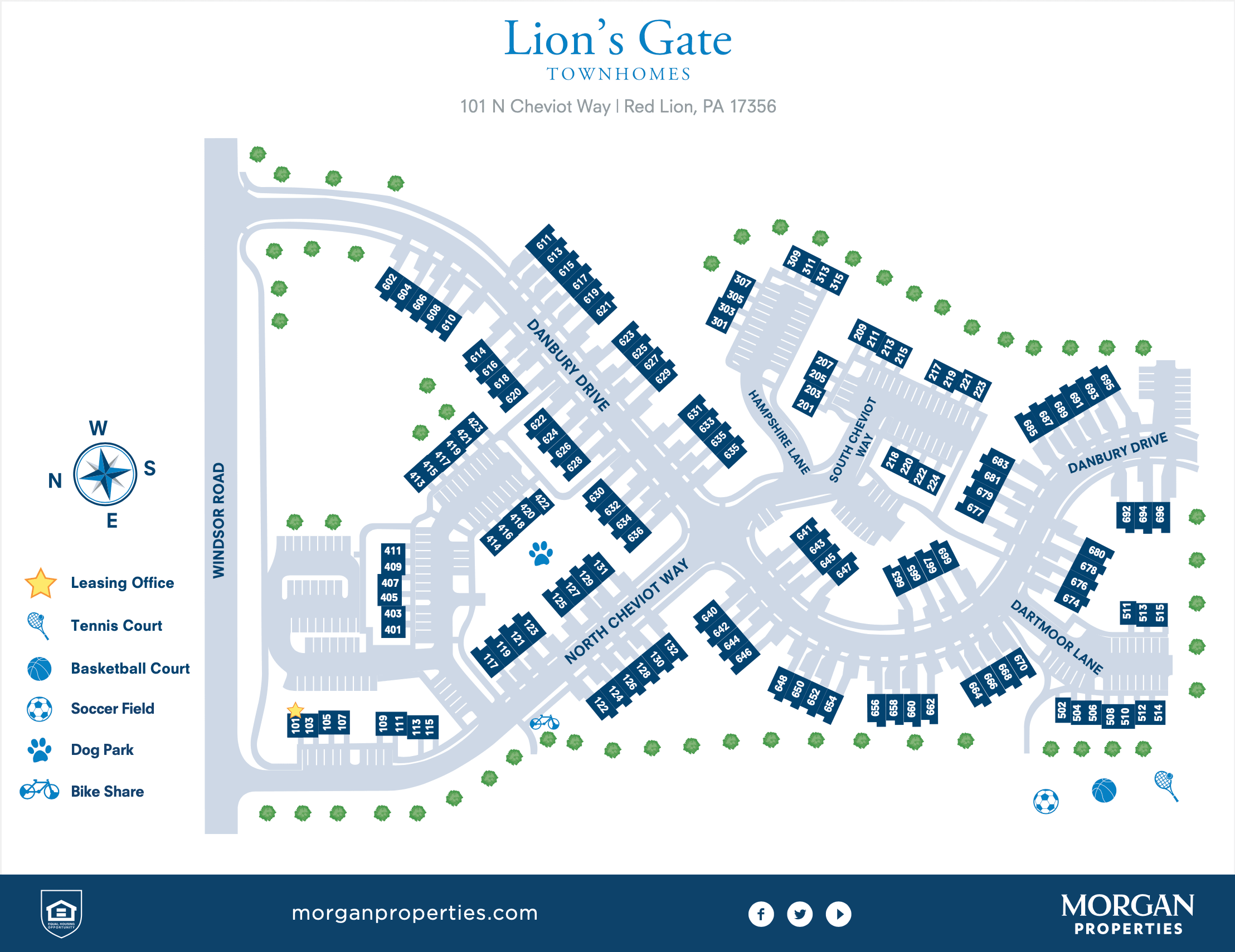 Lion's Gate Site Map