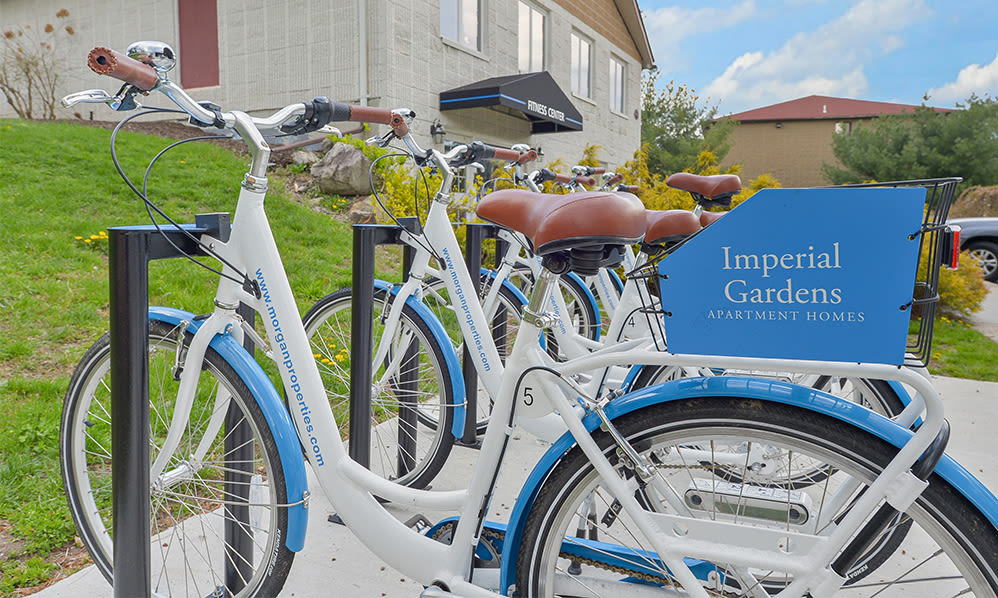 Free bike share at Imperial Gardens Apartment Homes in Middletown, NY