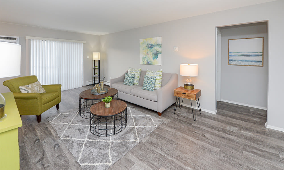 Cozy living room at Imperial Gardens Apartment Homes in Middletown, NY