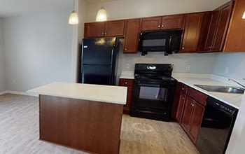 Virtual tour of a two bedroom apartment at Villa Capri Apartments in Rochester, New York