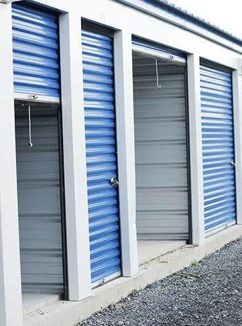 Open outdoor units at All Secure Storage in Moose Jaw, Saskatchewan