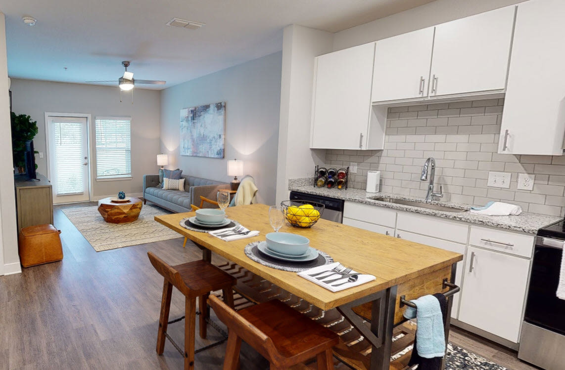 View virtual tour for 1 bedroom 1 bathroom unit at Argyle at Oakleaf Town Center in Jacksonville, Florida