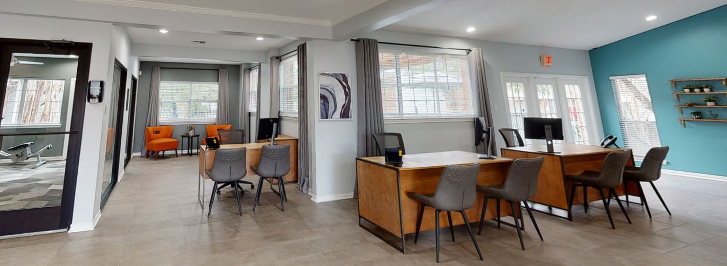 View virtual tour of the leasing office at Canopy on Central in Bedford, Texas