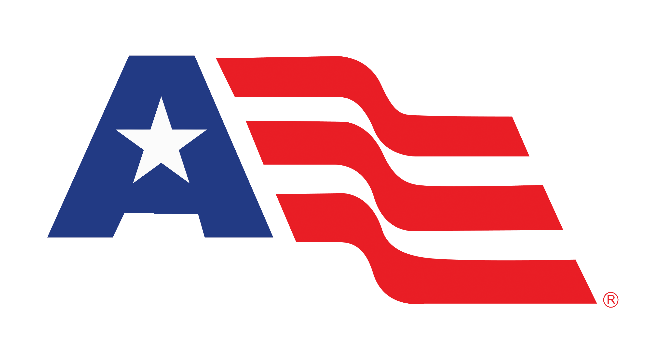An American flag letter A icon from A-American Self Storage in Lancaster, California
