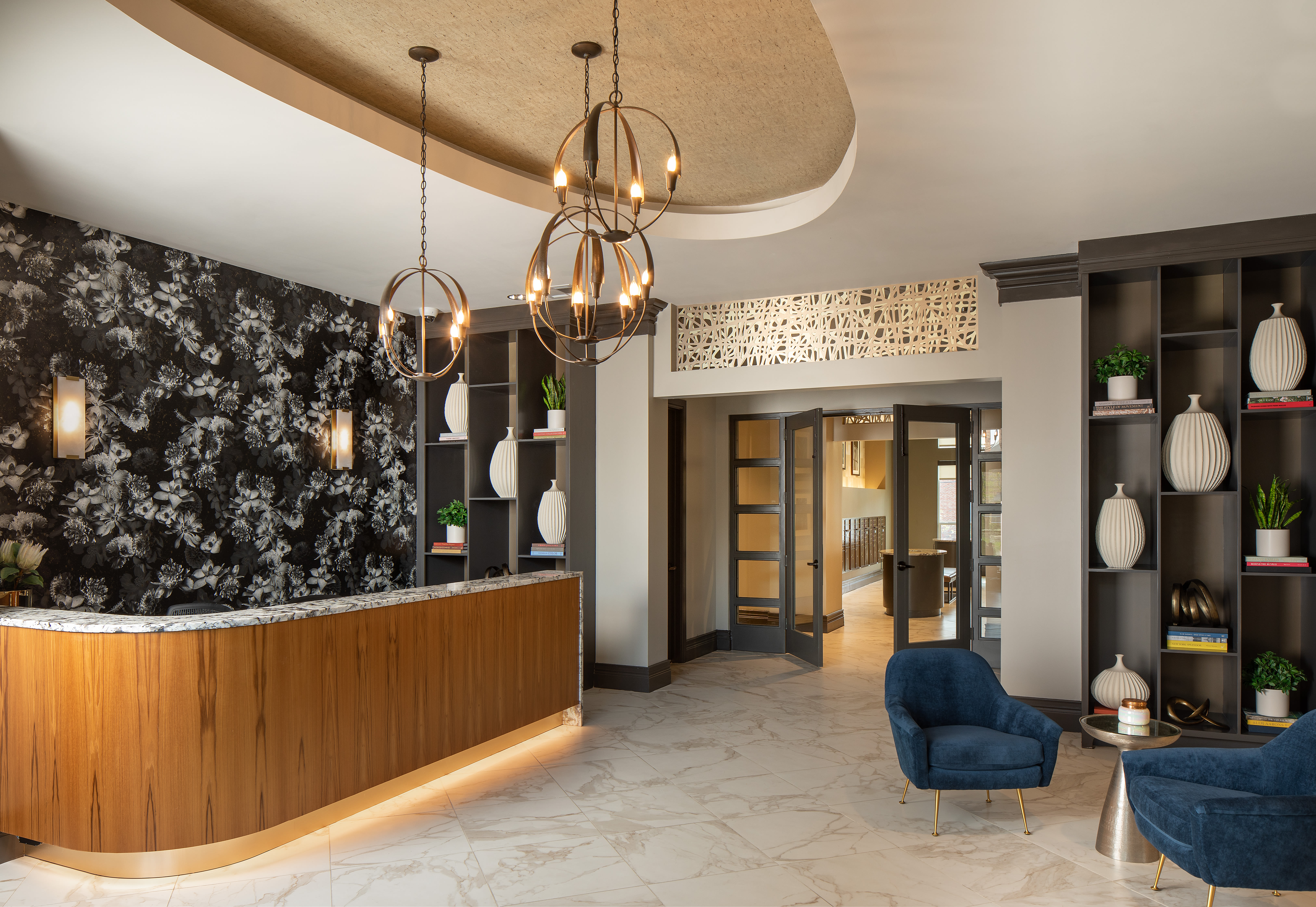 Check in leasing area at Magnolia Heights in San Antonio, Texas