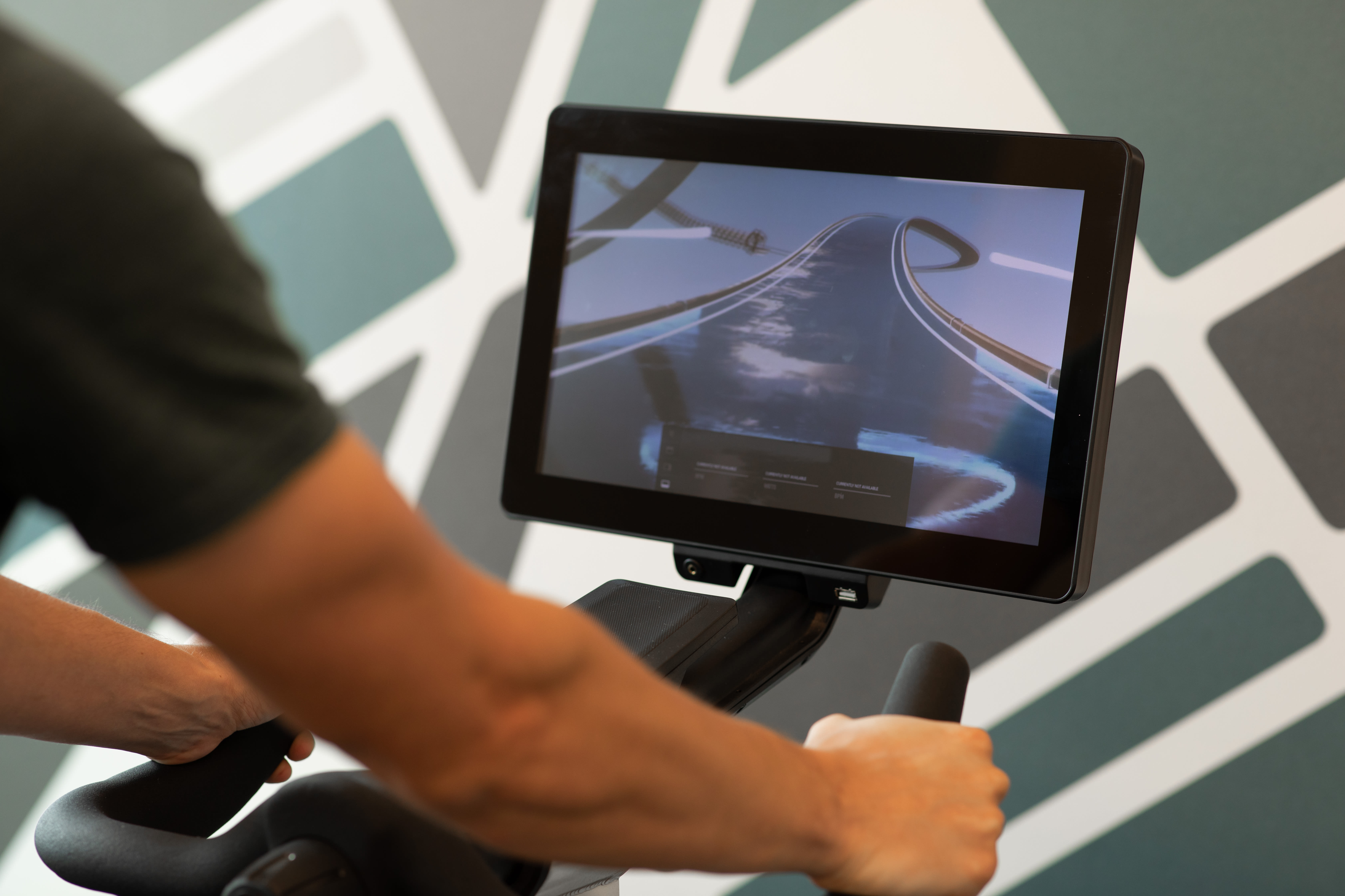 interactive work out machine at Magnolia Heights in San Antonio, Texas