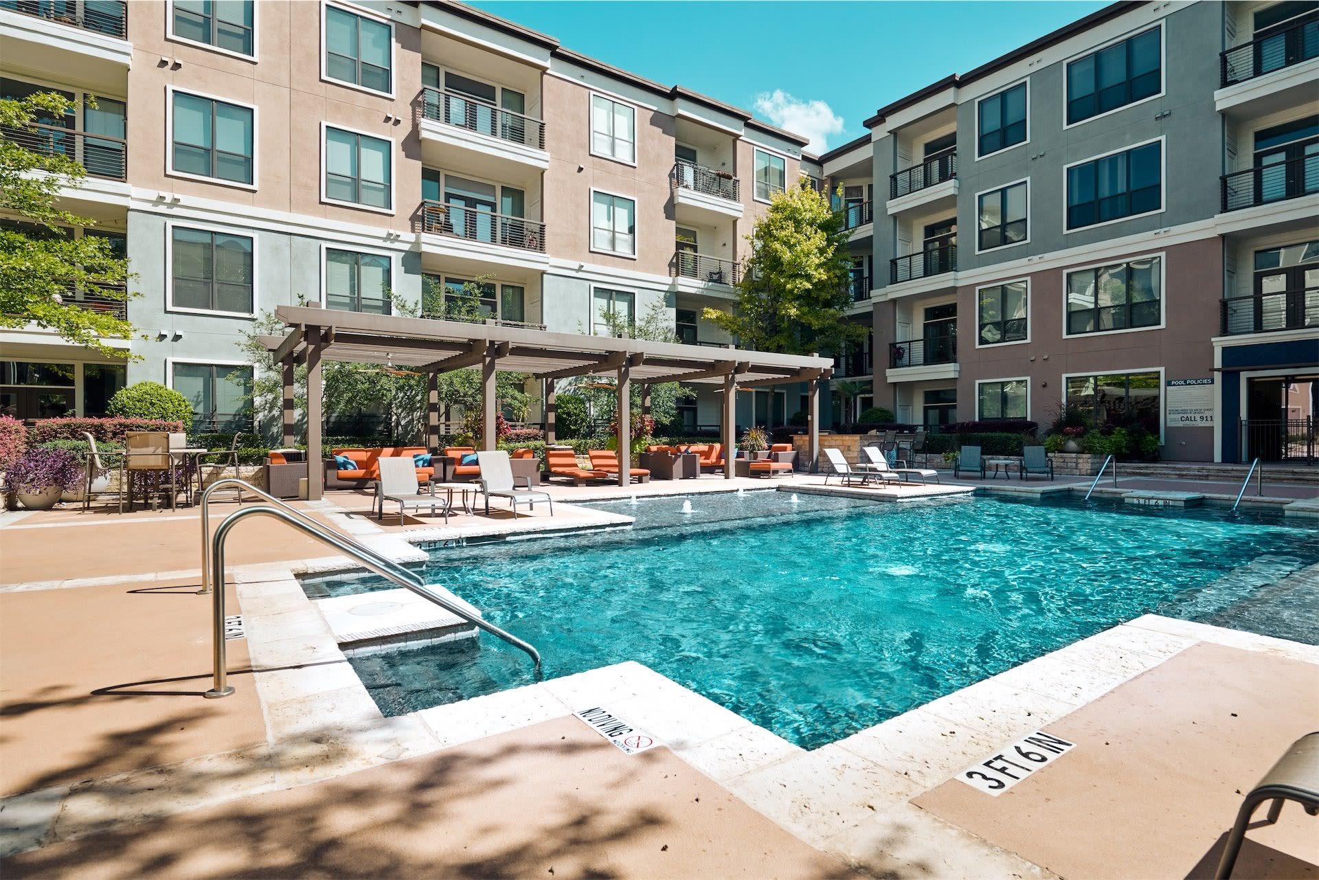 Pool at Seville Uptown in Dallas, Texas