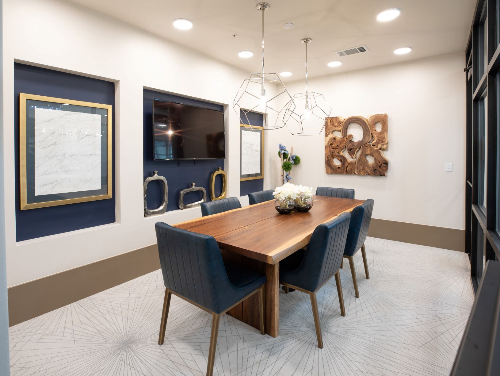 Private business center meeting area at The Alcott in Downtown Denver, Colorado