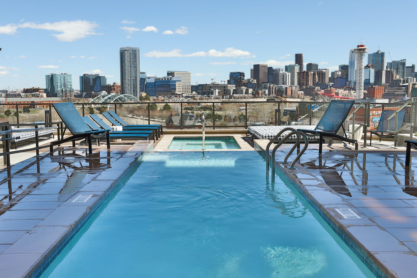 Rooftop pool at The Alcott in Downtown Denver, Colorado