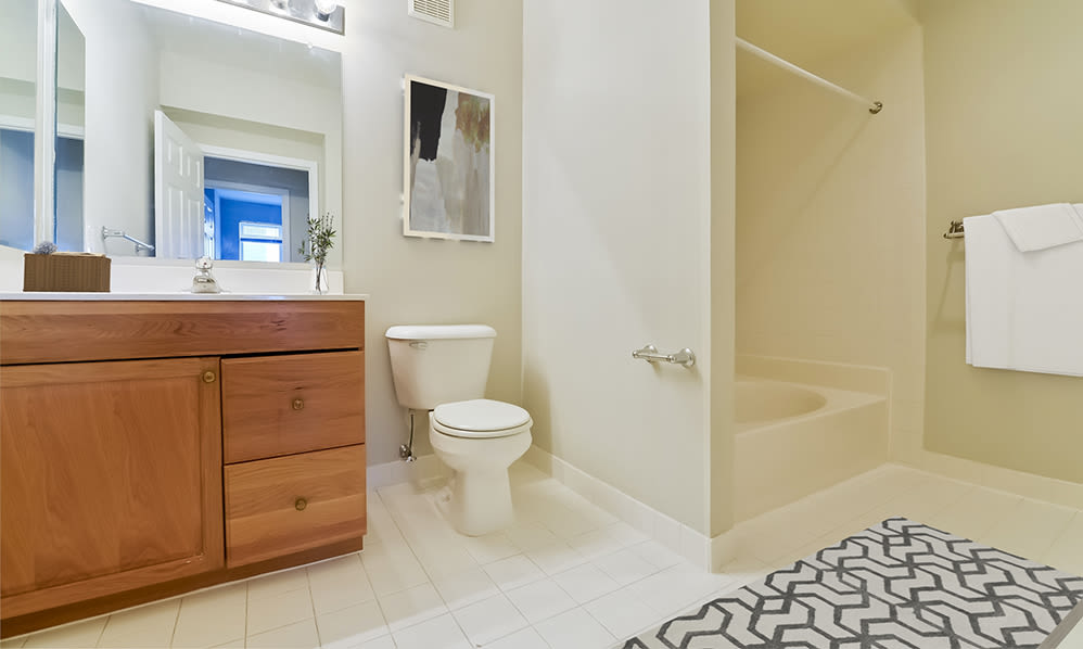 Spacious bathroom at Bishop's View Apartments & Townhomes in Cherry Hill, NJ