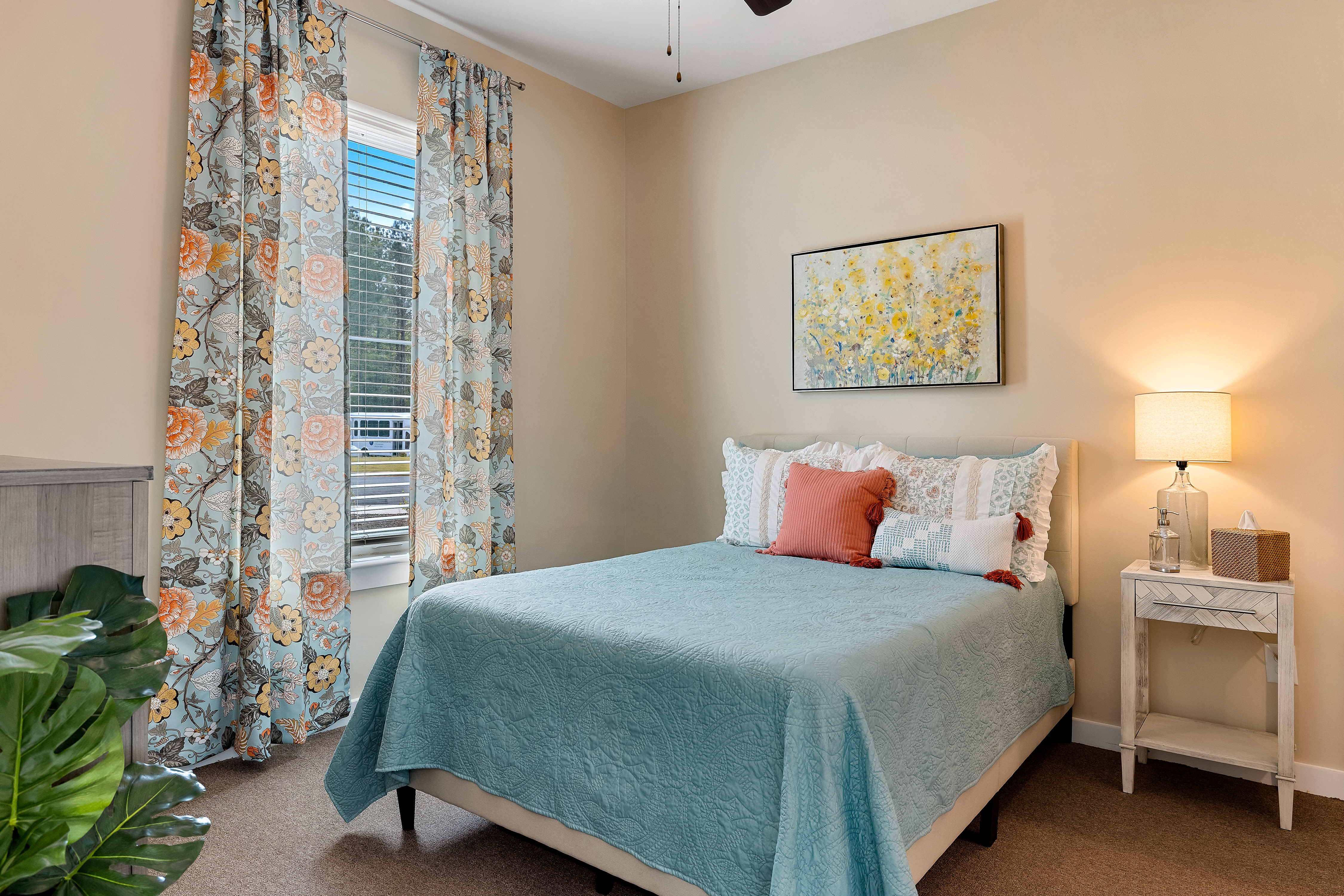 Well furnished bedroom at The Claiborne at Newnan Lakes in Newnan, GA