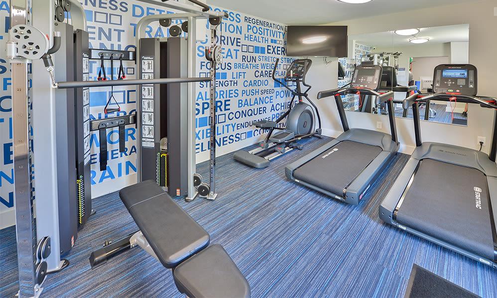Fitness center at Lumberton Apartment Homes in Lumberton, New Jersey