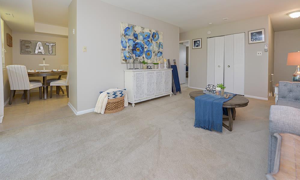 Spacious Living Room at Lumberton Apartment Homes in Lumberton, New Jersey