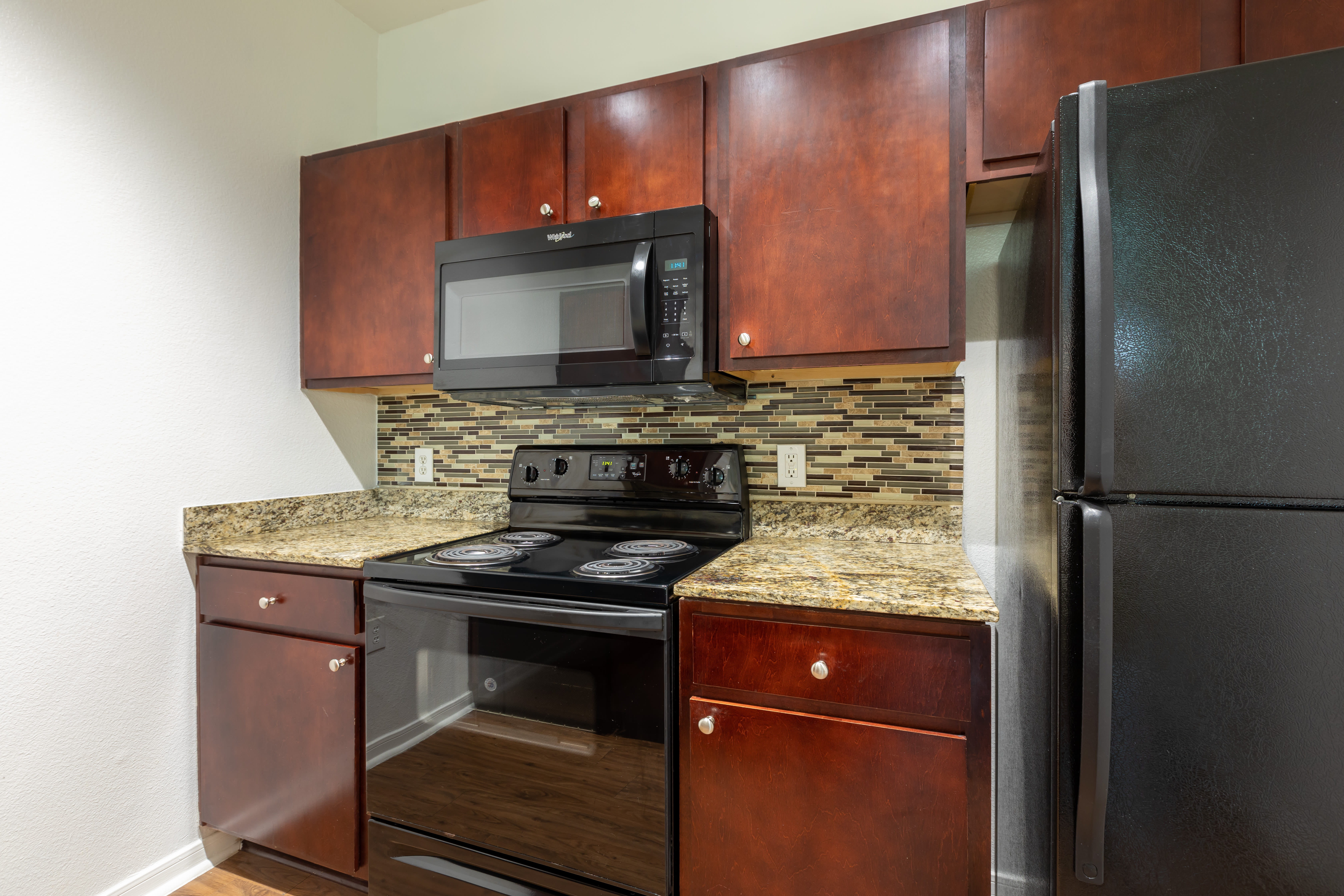 An update kitchen at Stone Creek at The Woodlands in The Woodlands, Texas