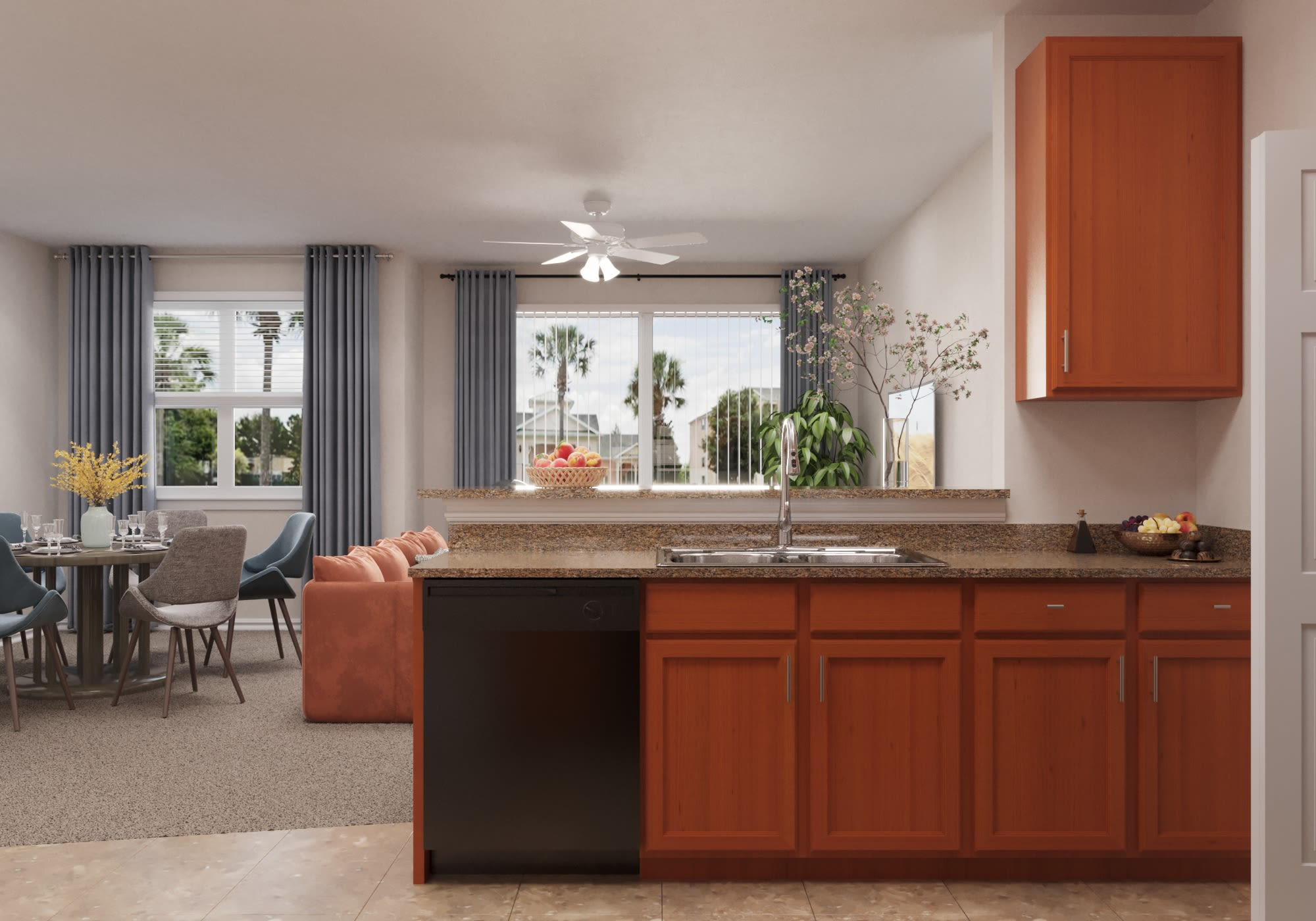 View virtual tour of our furnished two bedroom apartment at The Aspect in Kissimmee, Florida