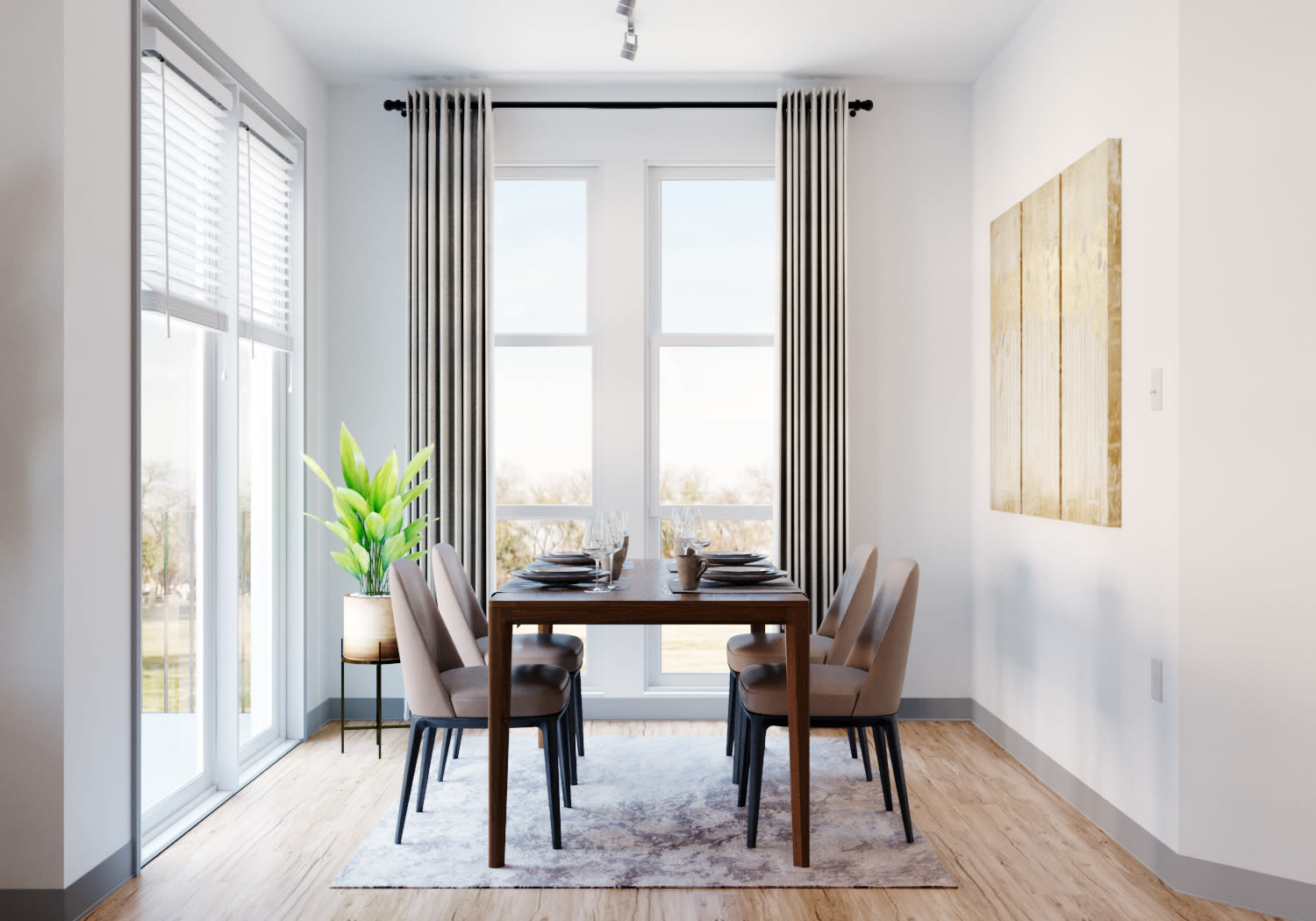 View virtual tour for a two bedroom at Shelby at Northside in Fort Worth, Texas