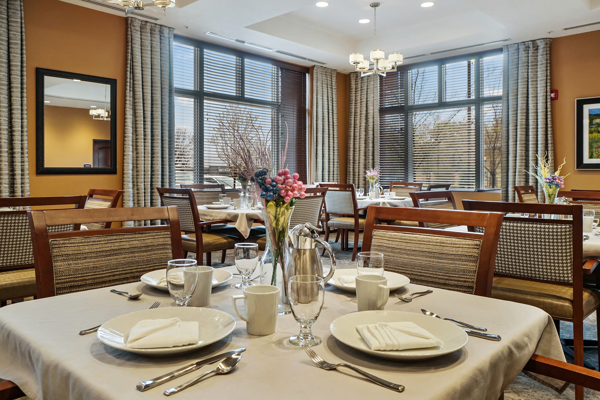 Decadent dining room at Western Slope Memory Care in Grand Junction, Colorado