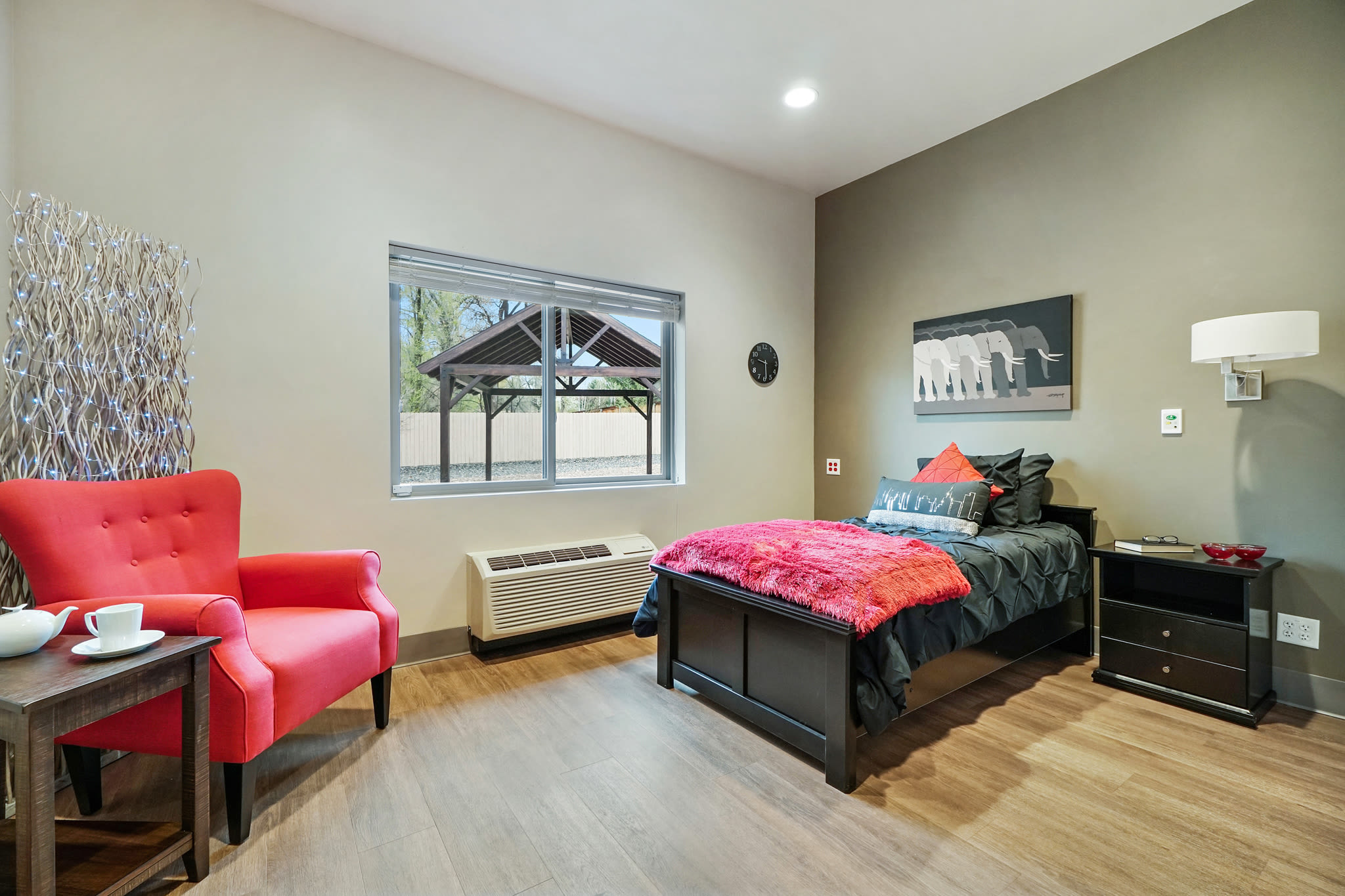 Cozy furnished room at Western Slope Memory Care in Grand Junction in Colorado