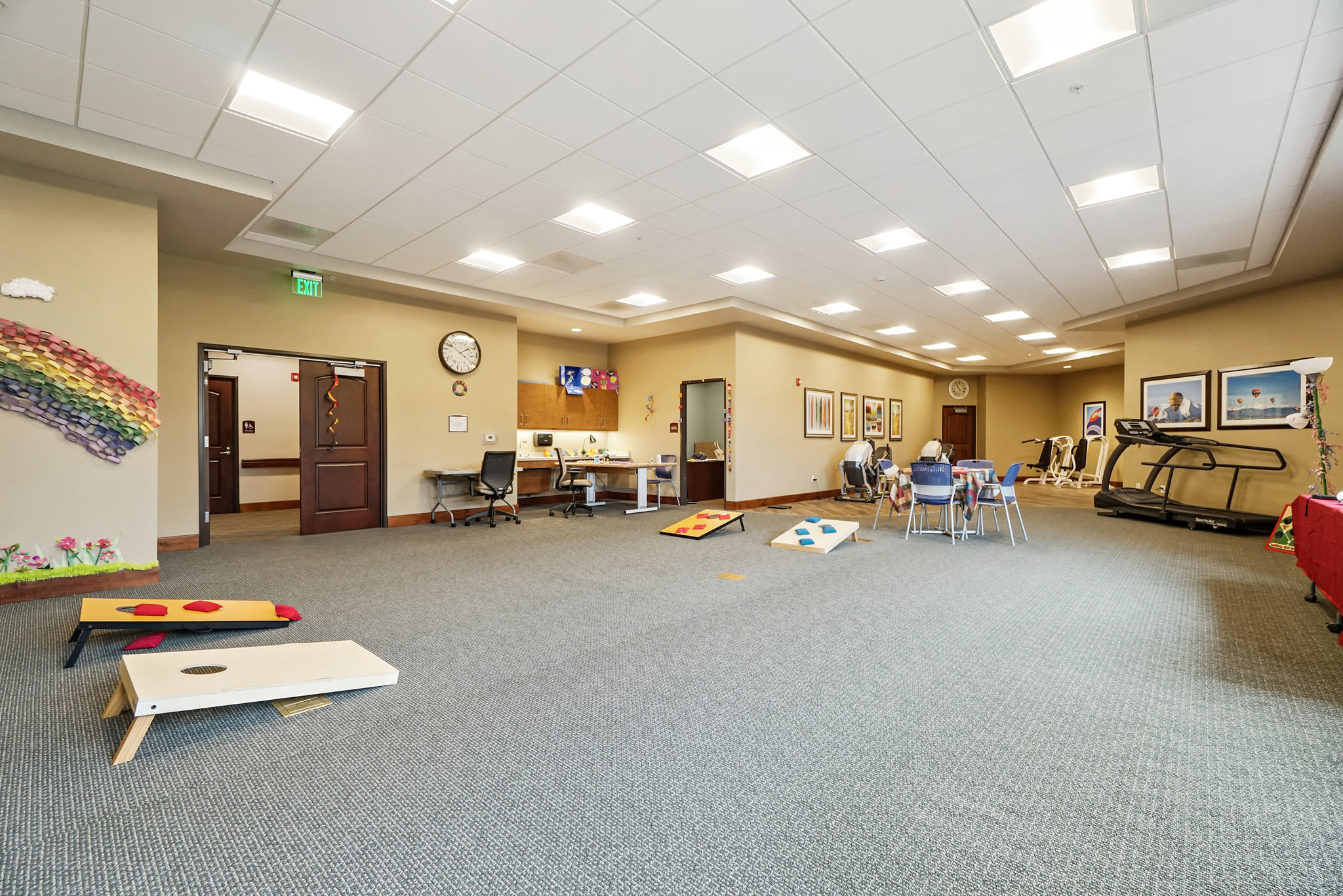 spacious recreation and fitness room at Western Slope Memory Care in Grand Junction in Colorado