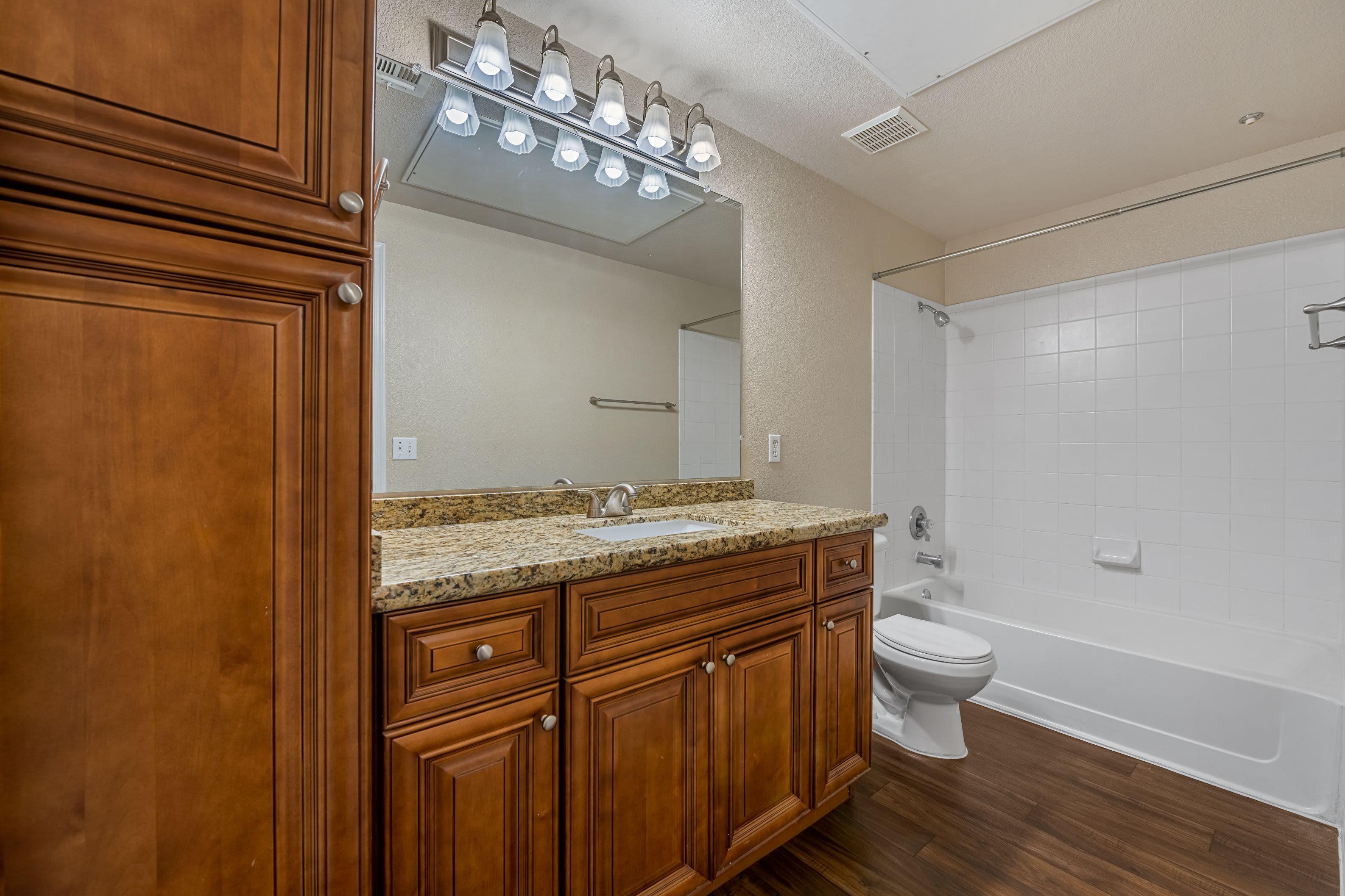 Spacious bathroom with generous storage at Azure Creek in Cave Creek, Arizona