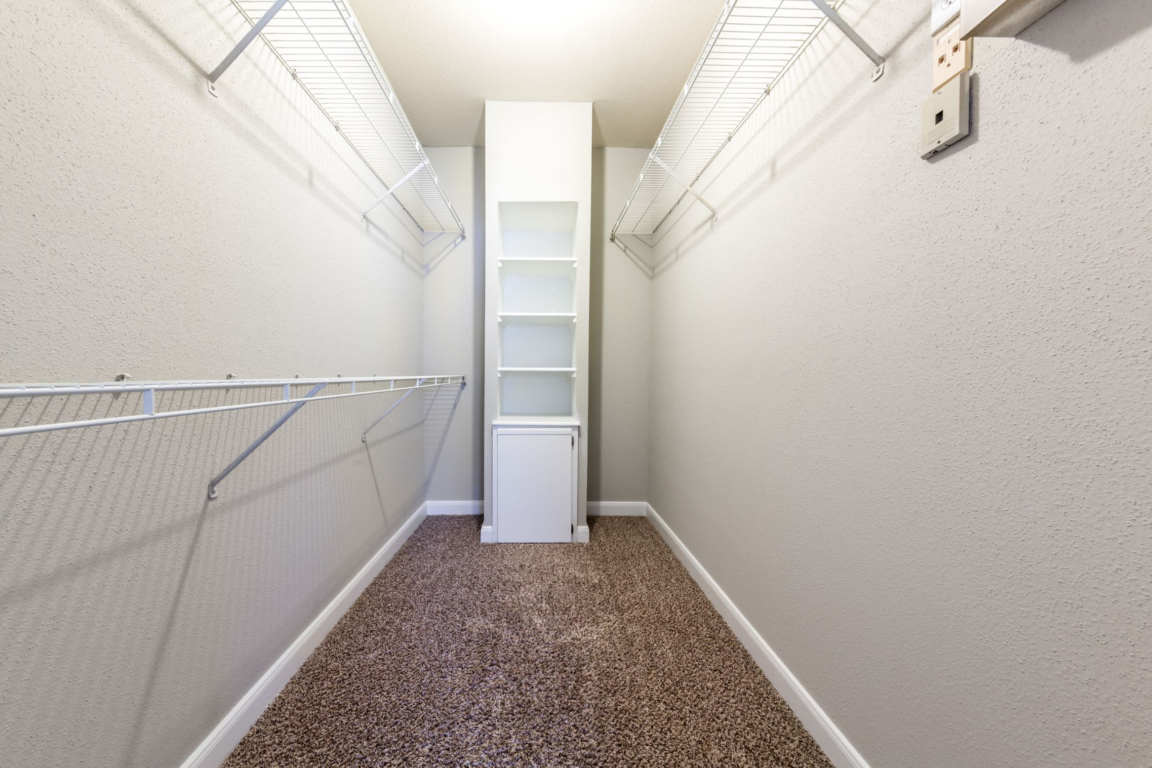 Walk in closet at Marquis on Memorial in Houston, Texas