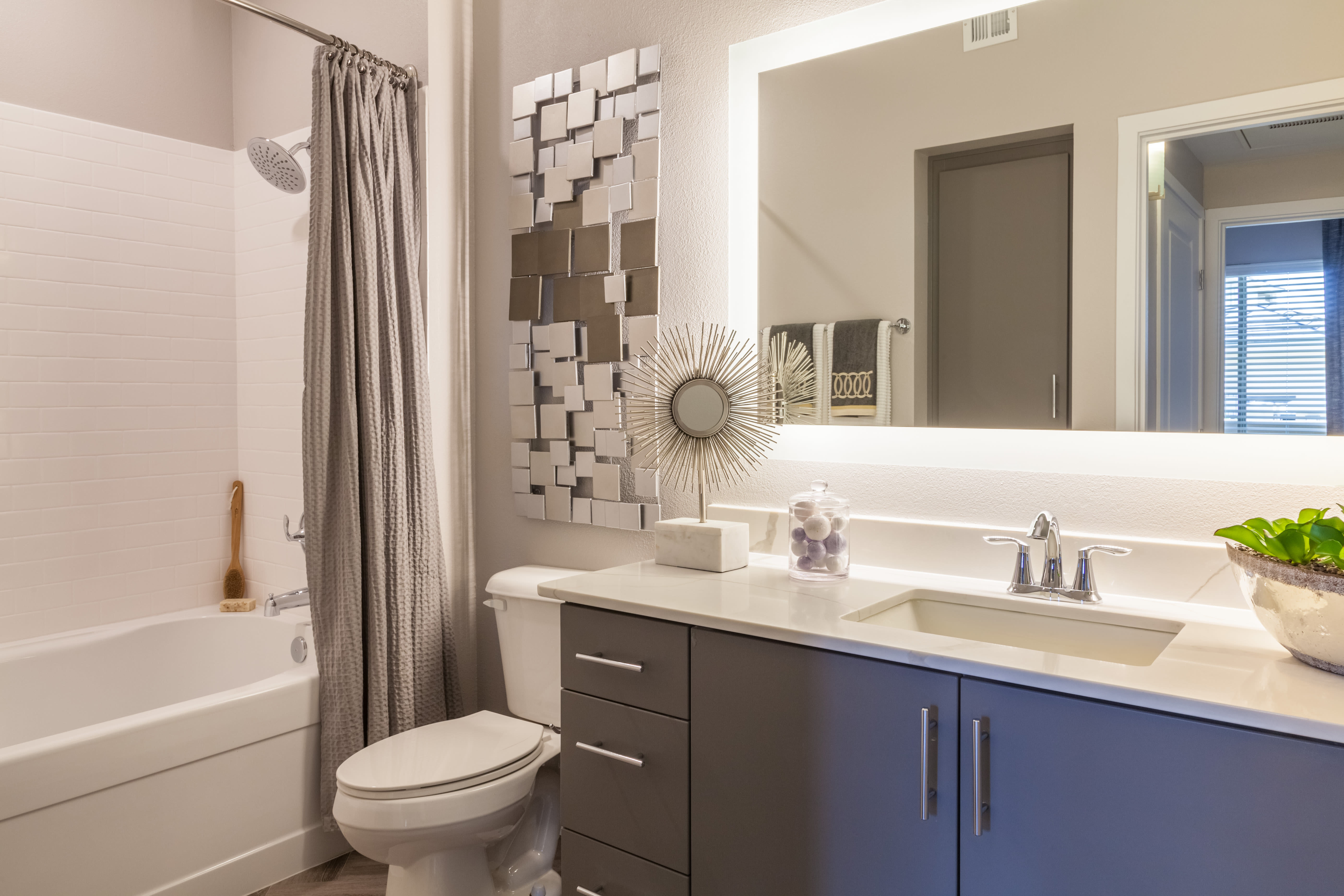 Luxurious bathroom in a model home at Olympus Alameda in Albuquerque, New Mexico