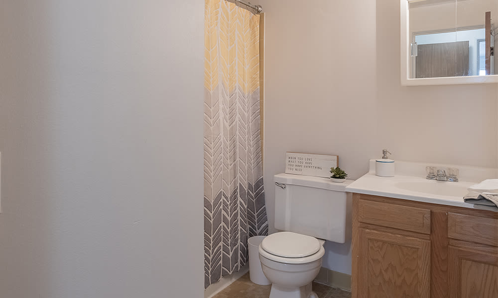 Large bathroom at Webster Manor Apartments in Webster, New York