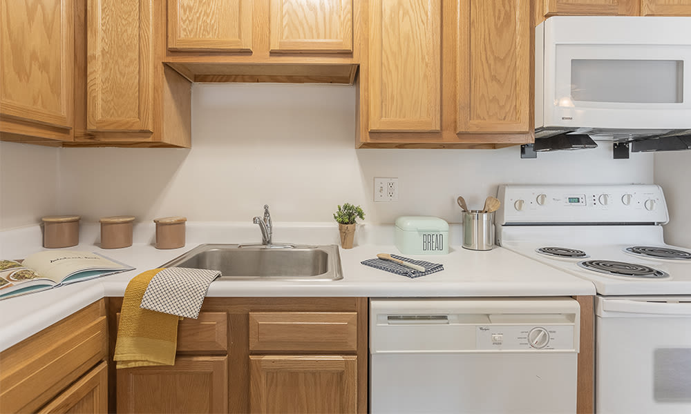 Kitchen at Webster Manor Apartments in Webster, New York