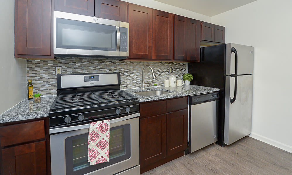 Kitchen at Duncan Hill Apartments & Townhomes in Westfield, New Jersey