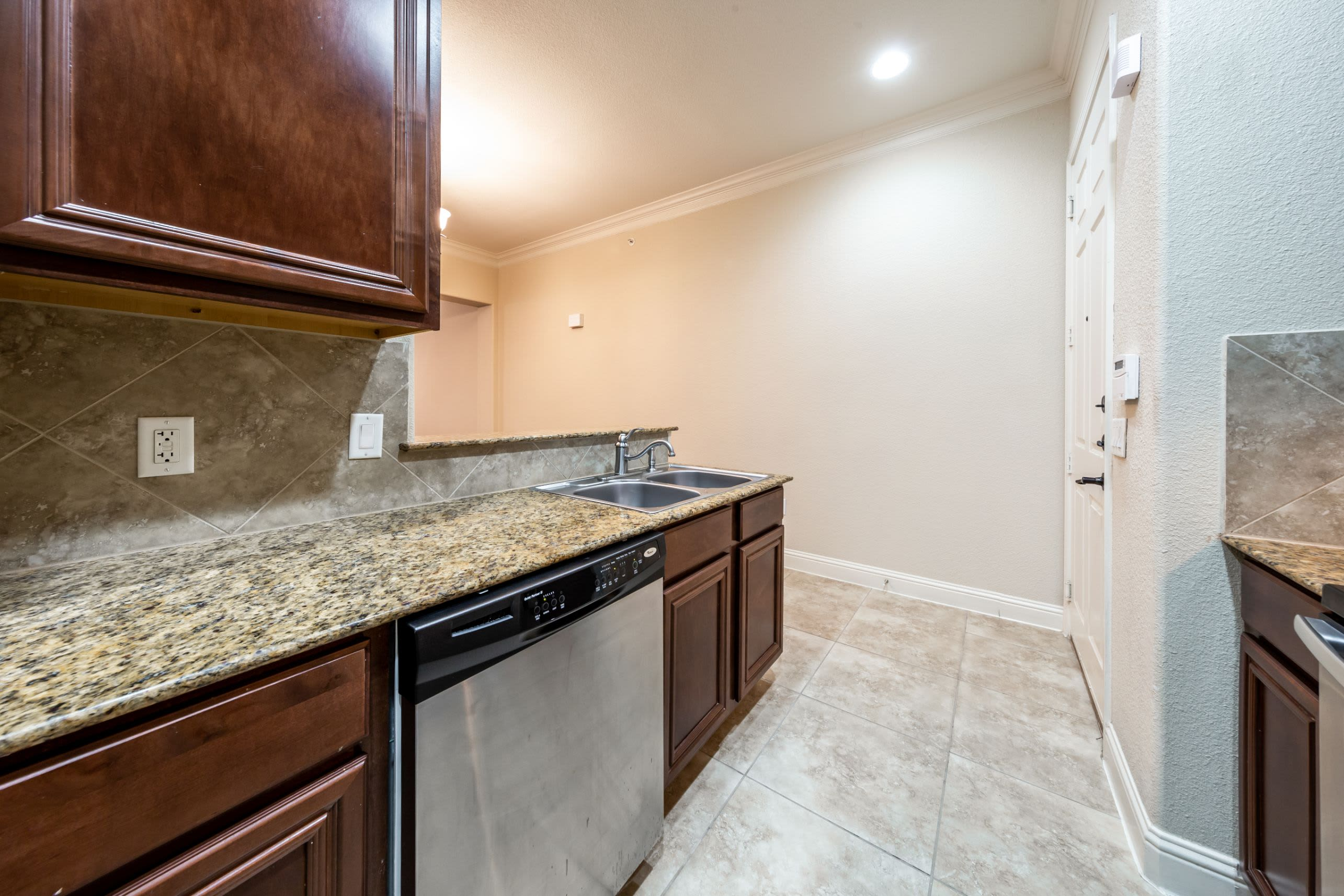 Kitchen with generous counter space at Marquis at TPC in San Antonio, Texas