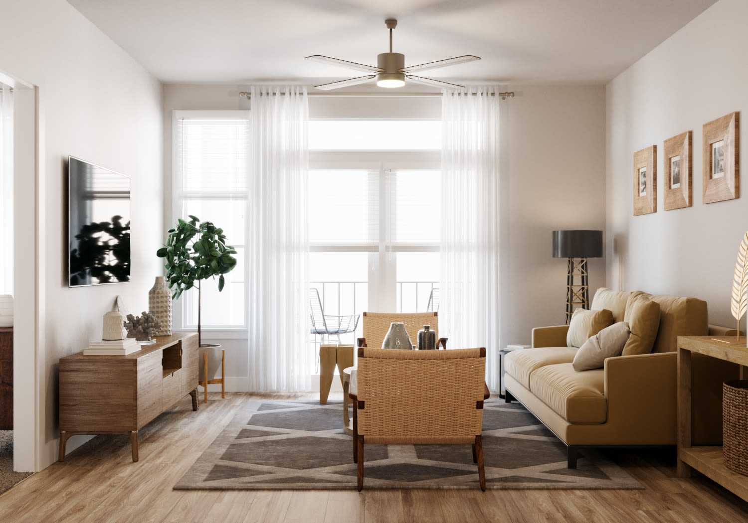 View virtual tour of a 1bedroom 1 bathroom at Opal at Barker Cypress in Houston, Texas