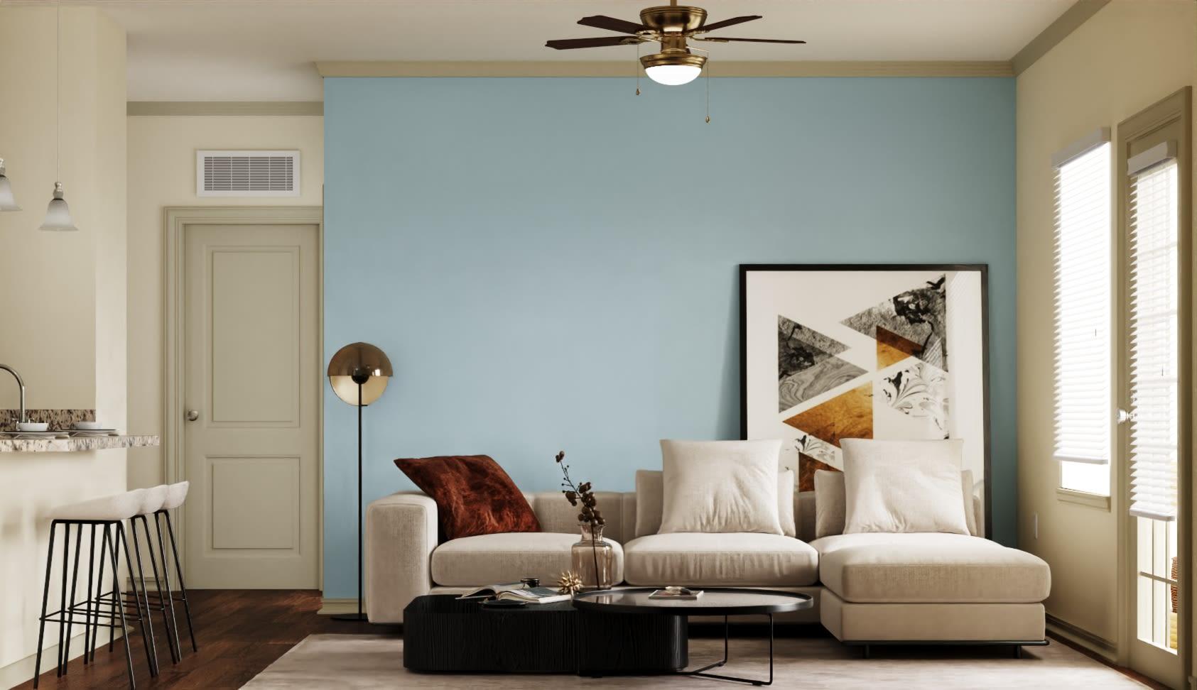 View virtual tour for a 1 bedroom 1 bathroom apartment at Pecan Springs Apartments in San Antonio, Texas