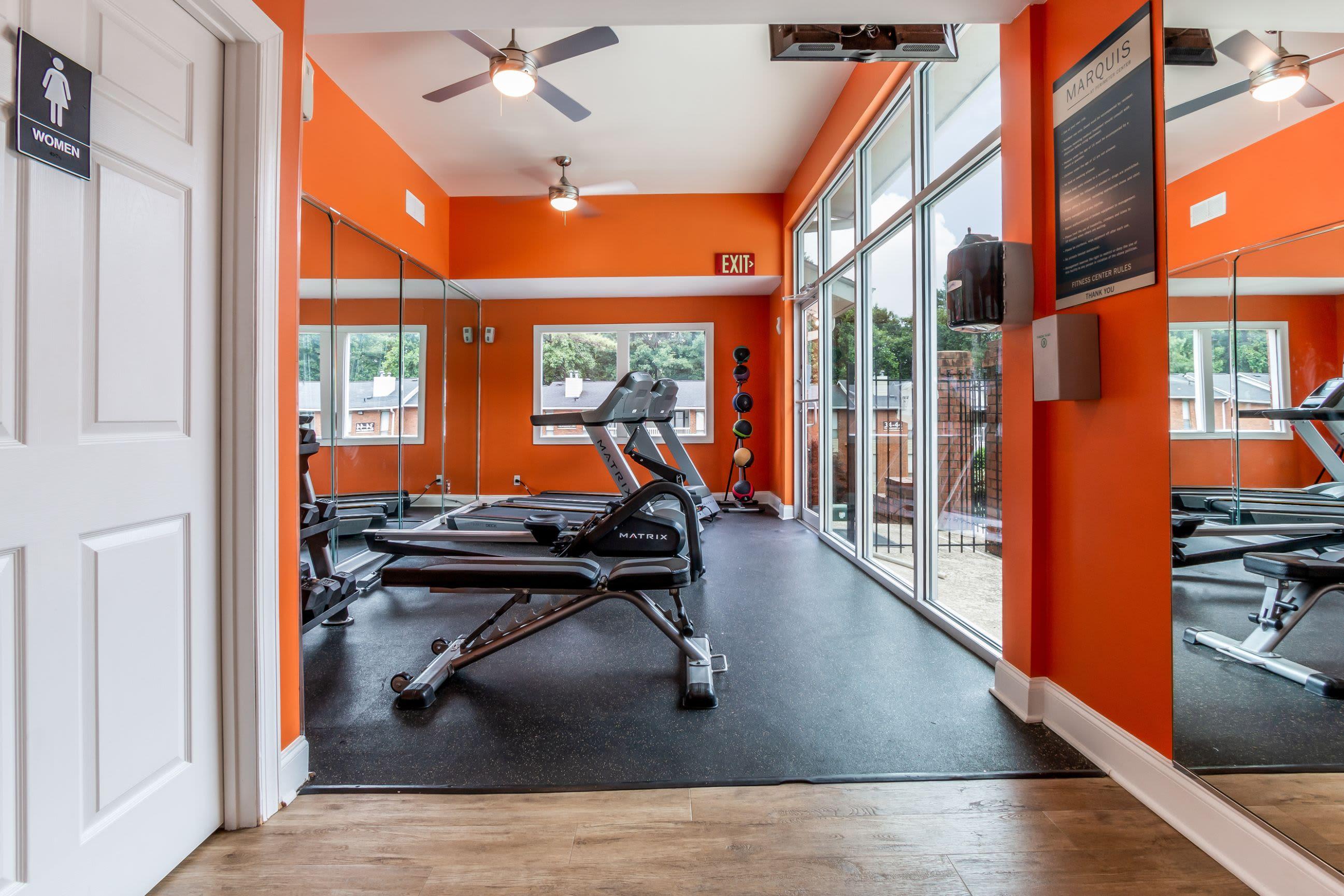 Fitness center at Marquis at Perimeter Center in Atlanta, Georgia