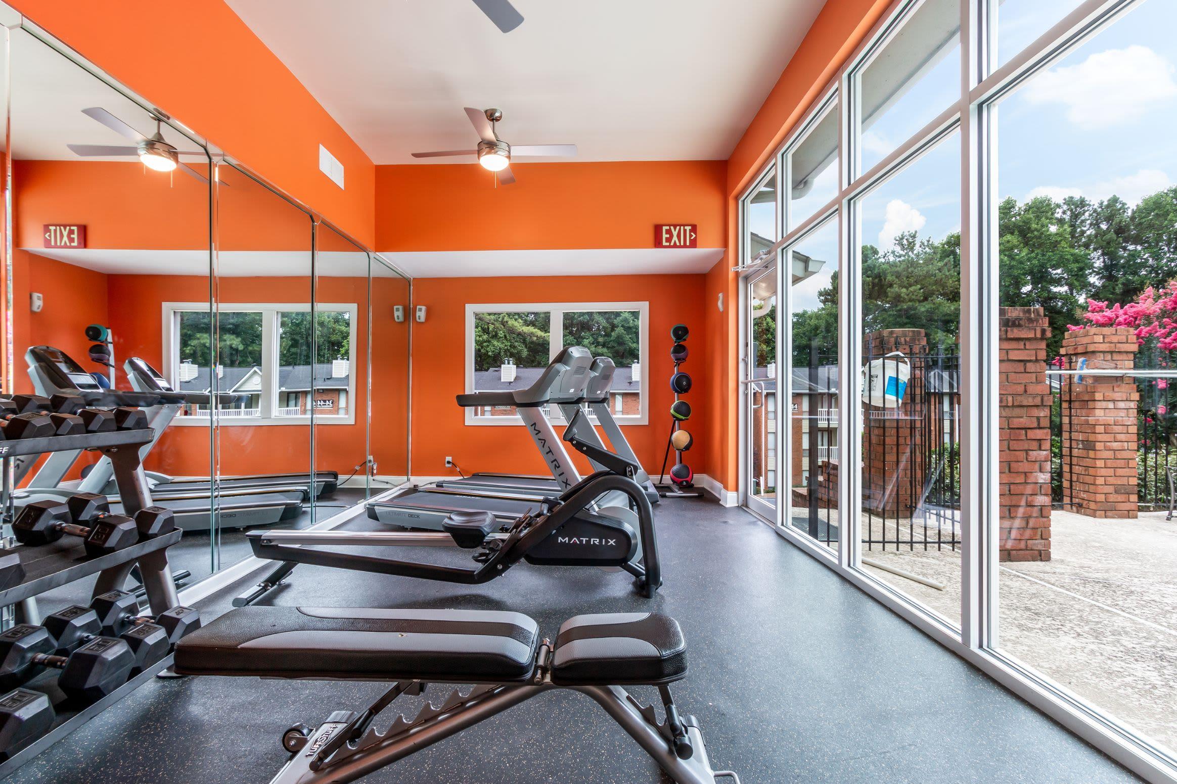 Fitness center at Marquis at Perimeter Center in Atlanta Georgia,