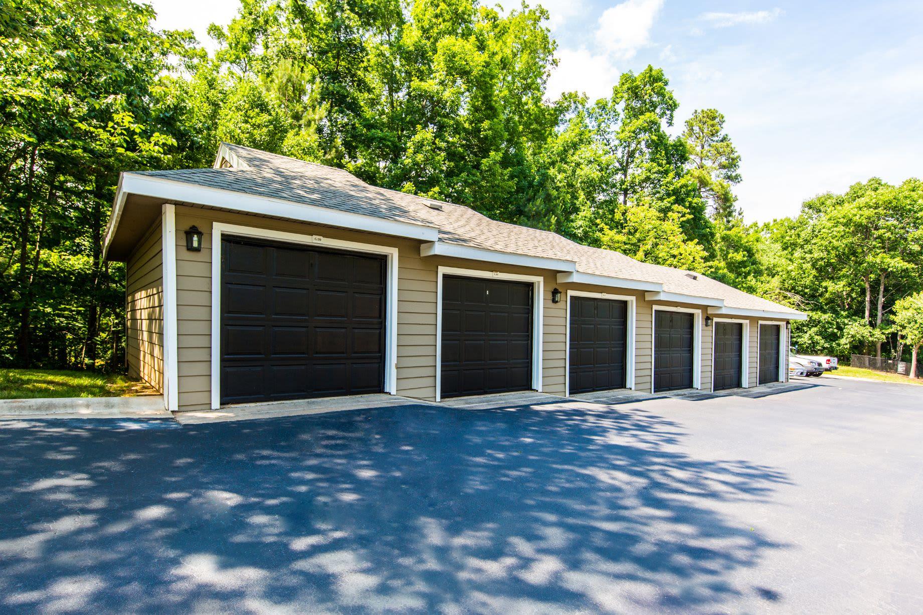 Garages at Marquis at Silverton in Cary, North Carolina