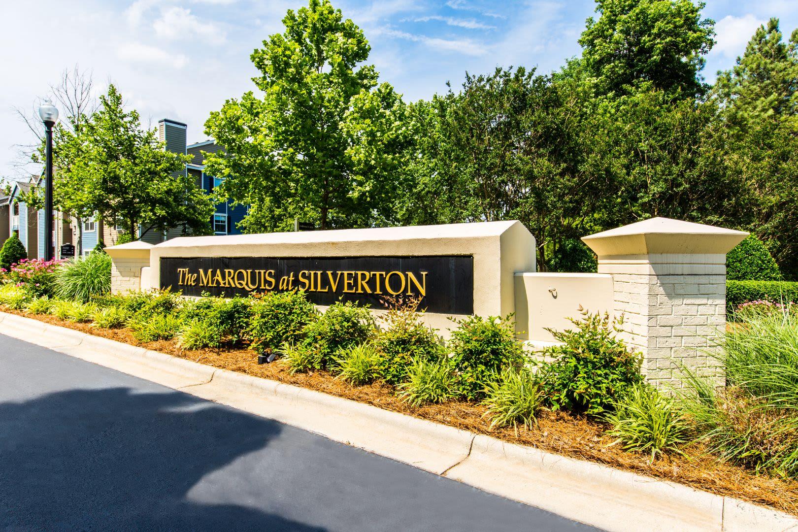Marquis at Silverton sign at Cary, North Carolina from Marquis at Silverton