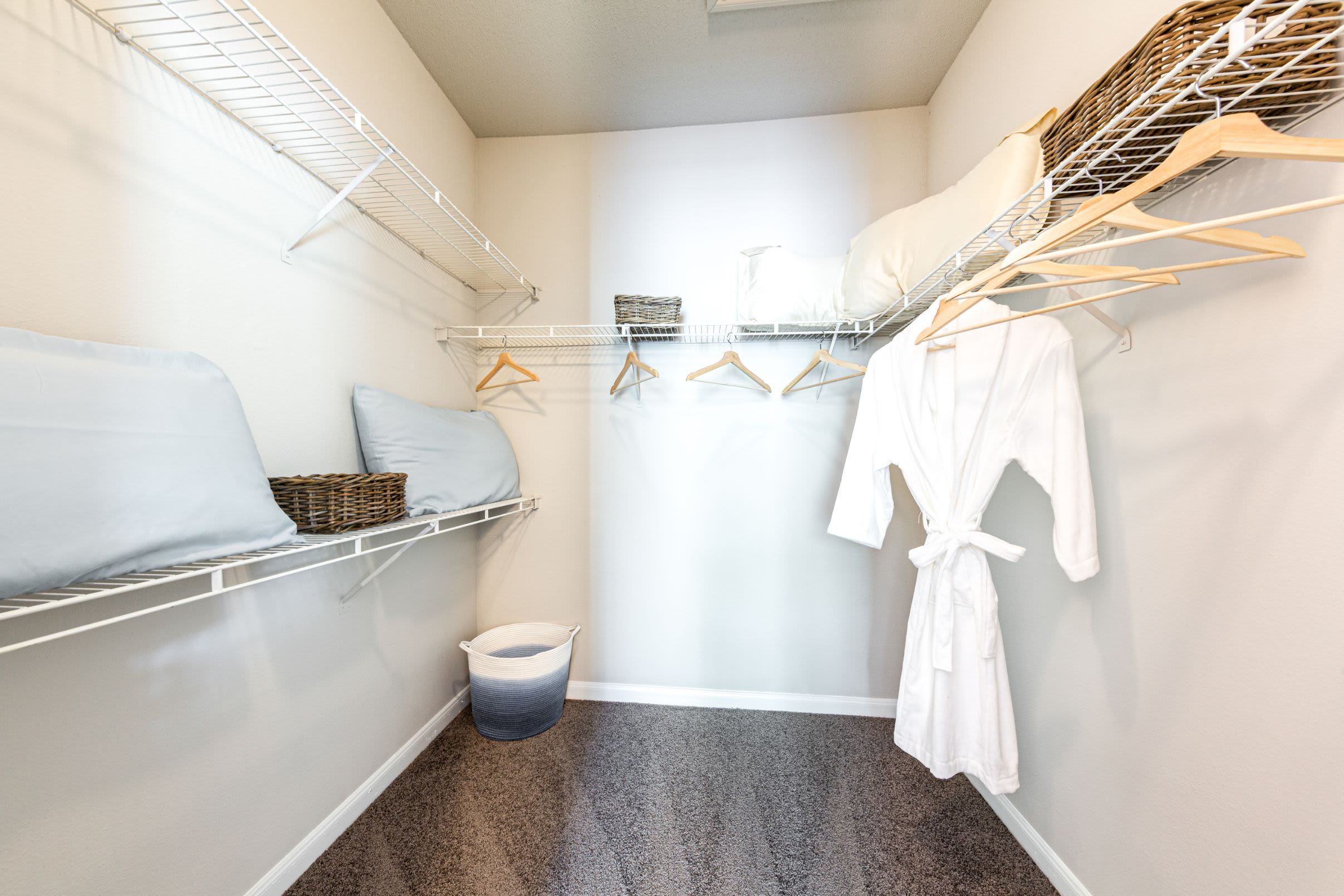 Walk in closet at Marquis at Westchase in Houston, Texas