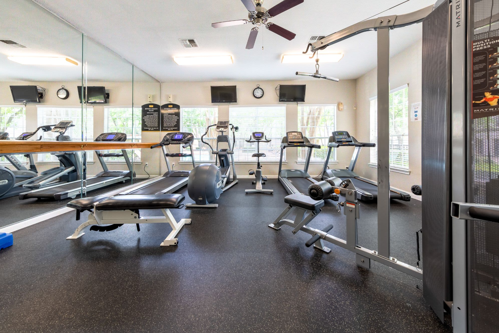 Capable fitness center at Marquis at Westchase in Houston, Texas