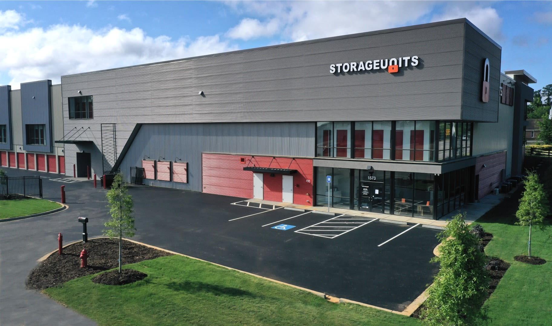 Main entrance to Storage Units in Aiken, South Carolina