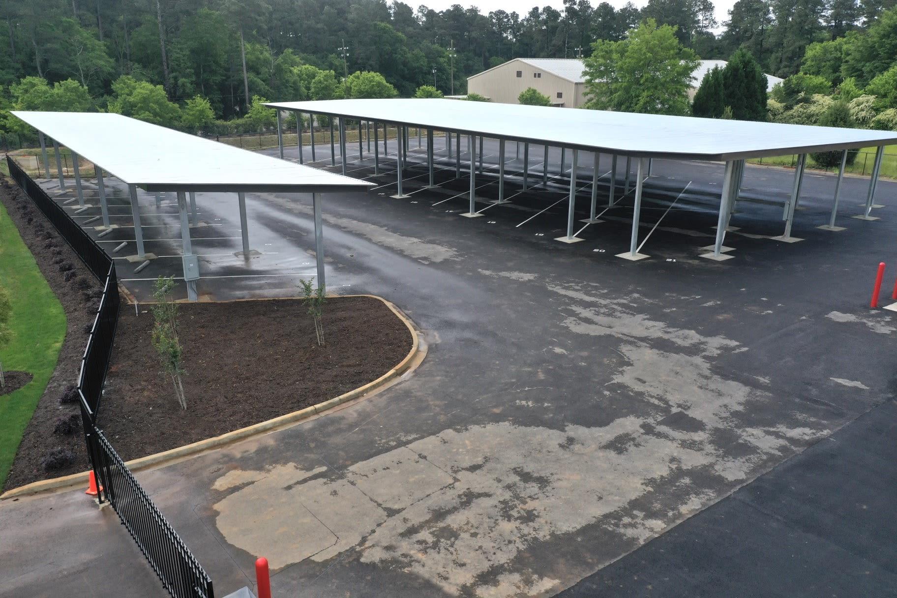 Spacious car canopy Storage Units in Aiken, South Carolina
