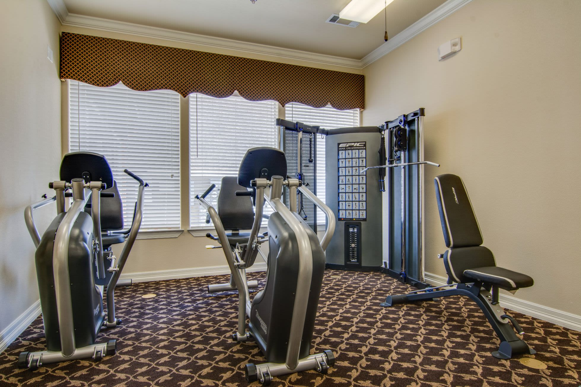 Fitness center at Marquis Rockwall in Rockwall, Texas