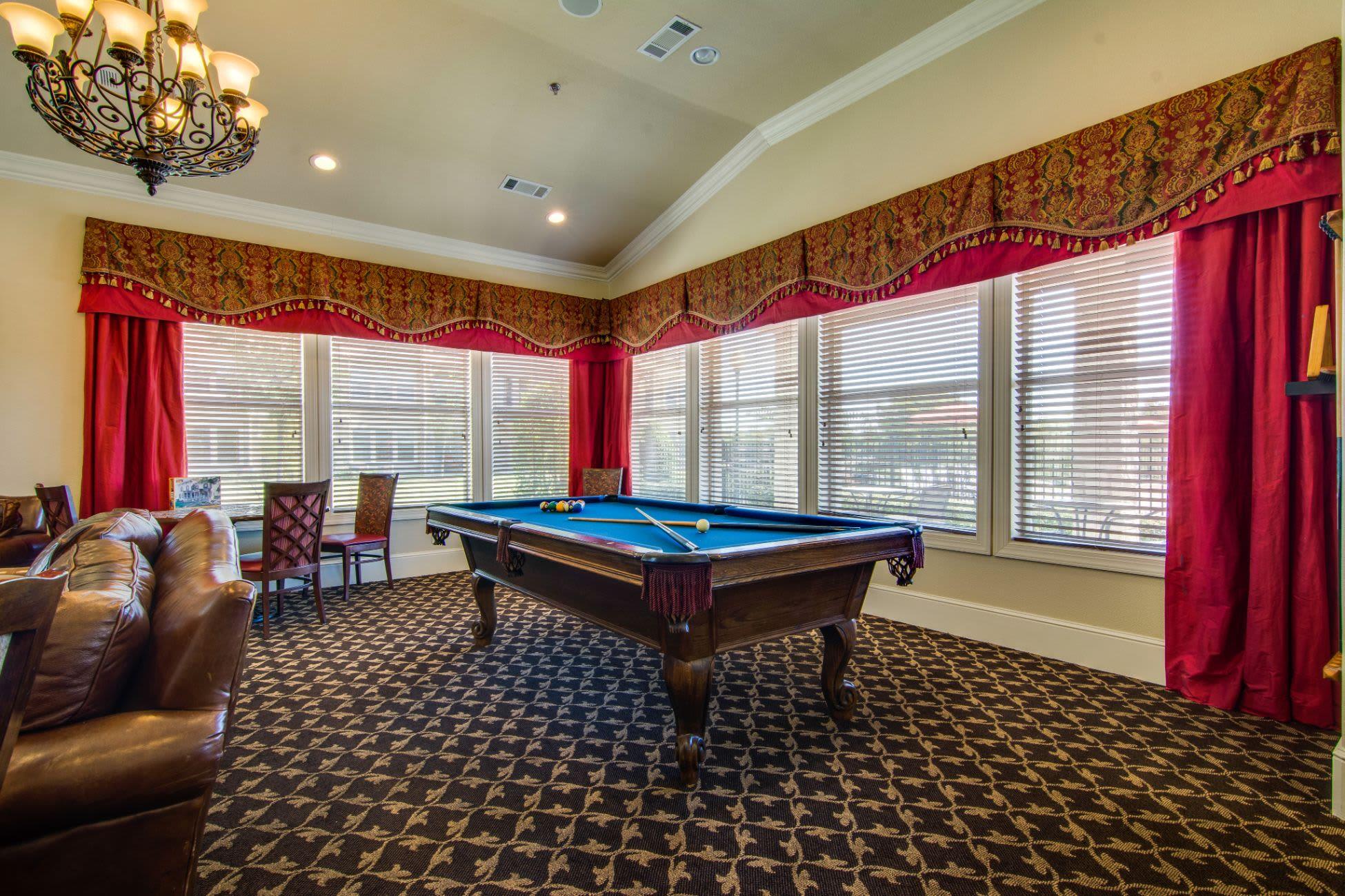 Billiards table at Marquis Rockwall in Rockwall, Texas