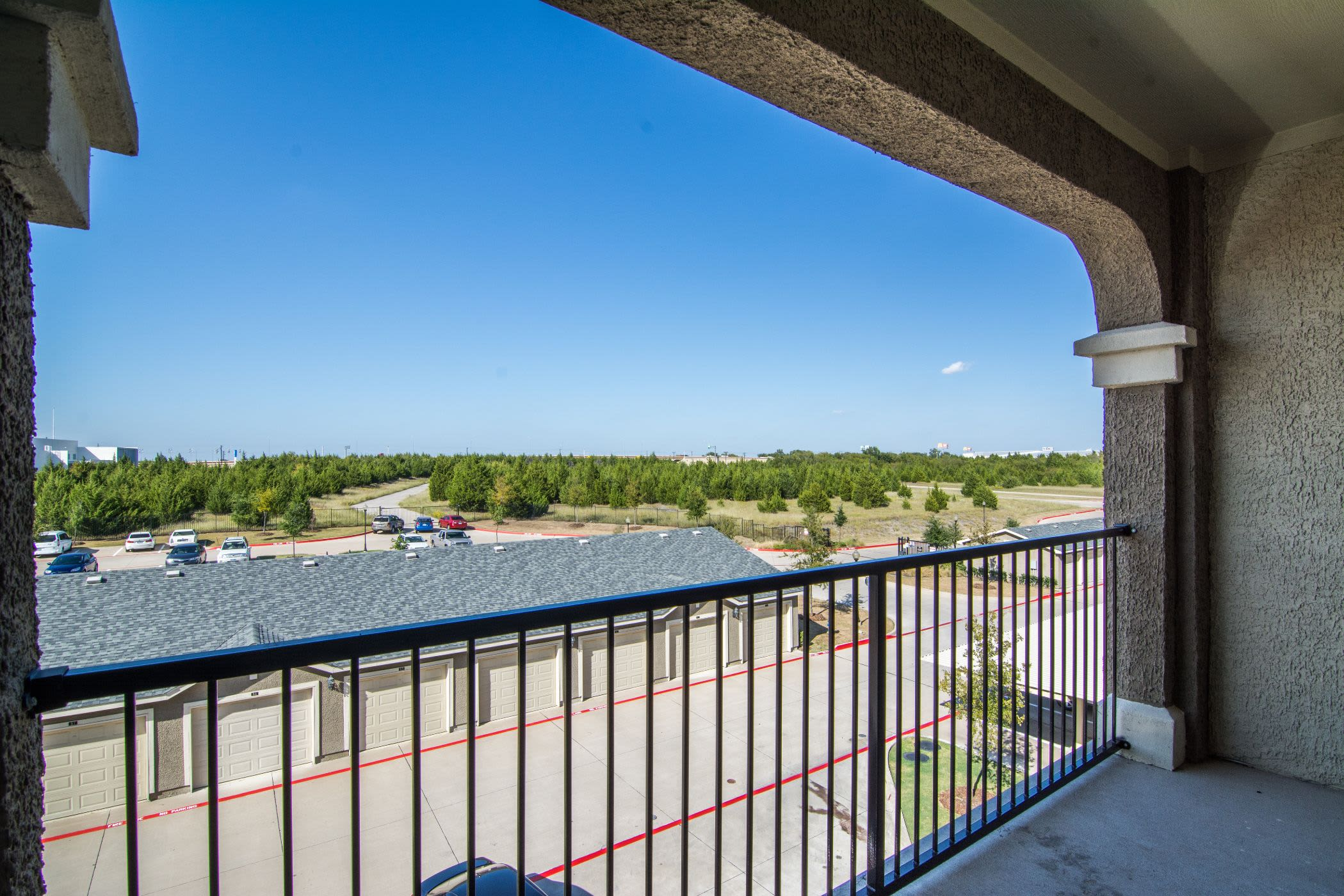 Private balcony at Marquis Rockwall in Rockwall, Texas