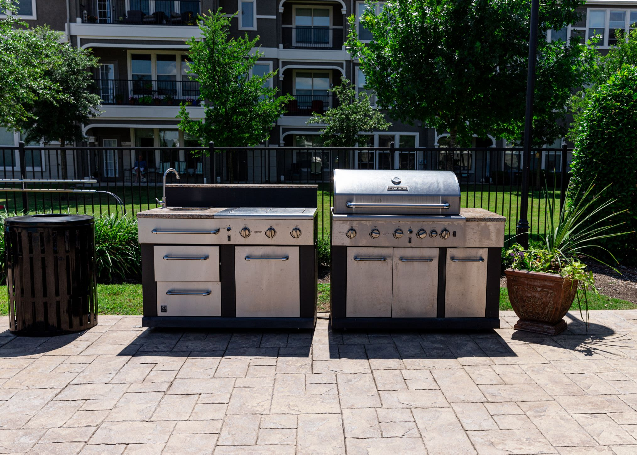 Community grills at Marquis Rockwall in Rockwall, Texas