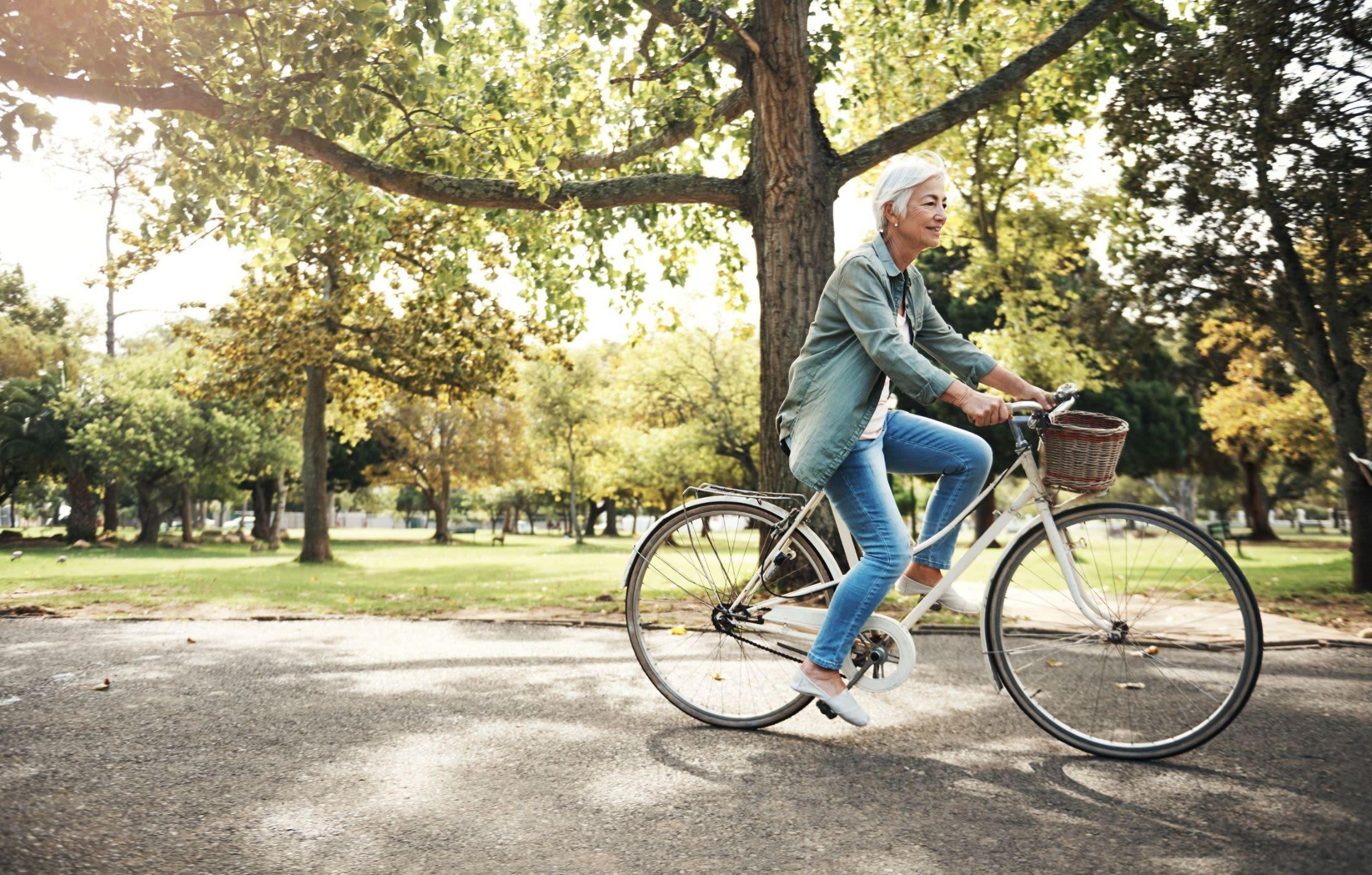 Resident riding their bike near Rockwall, Texas near Marquis Rockwall