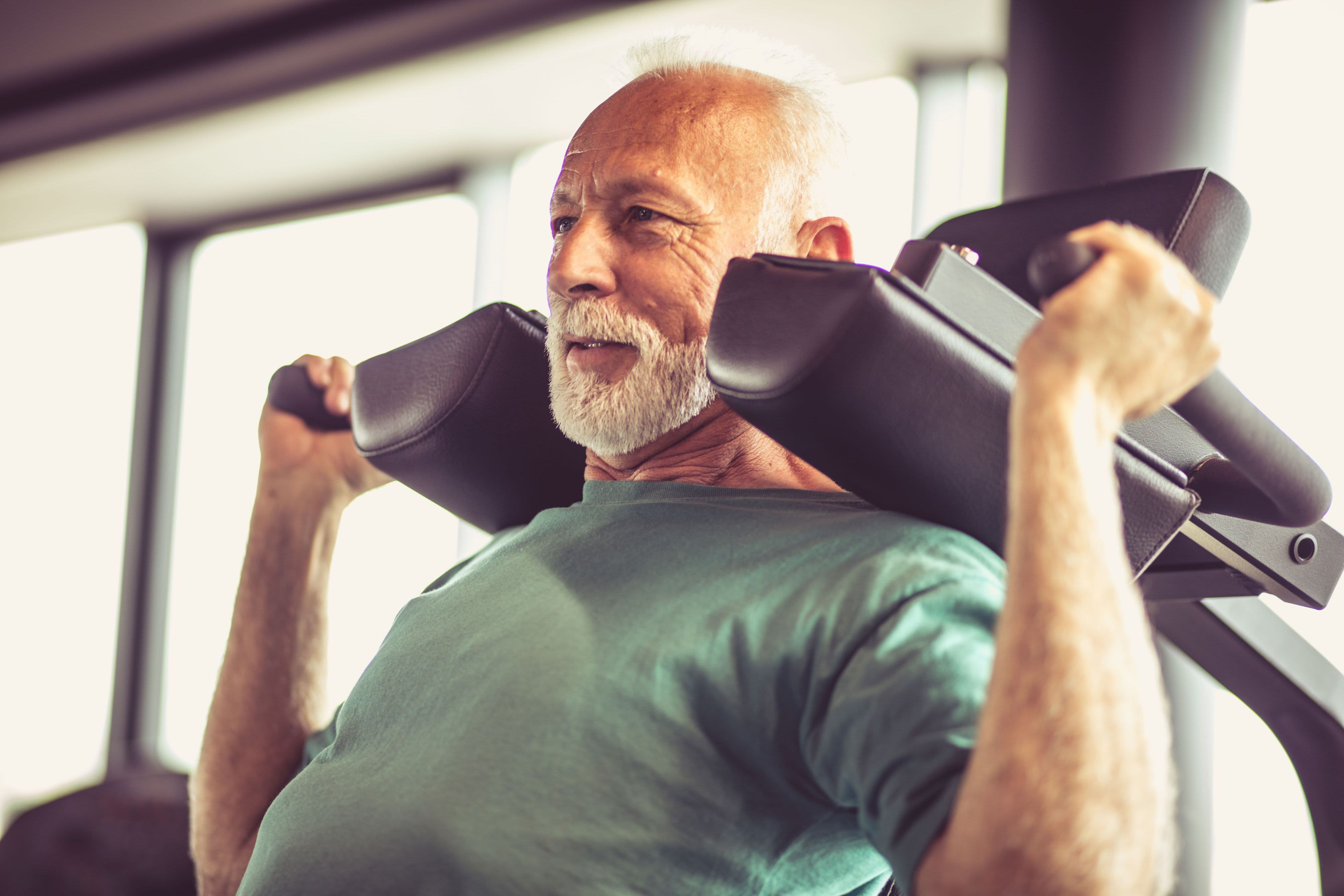 Resident working out at Marquis Rockwall in Rockwall, Texas